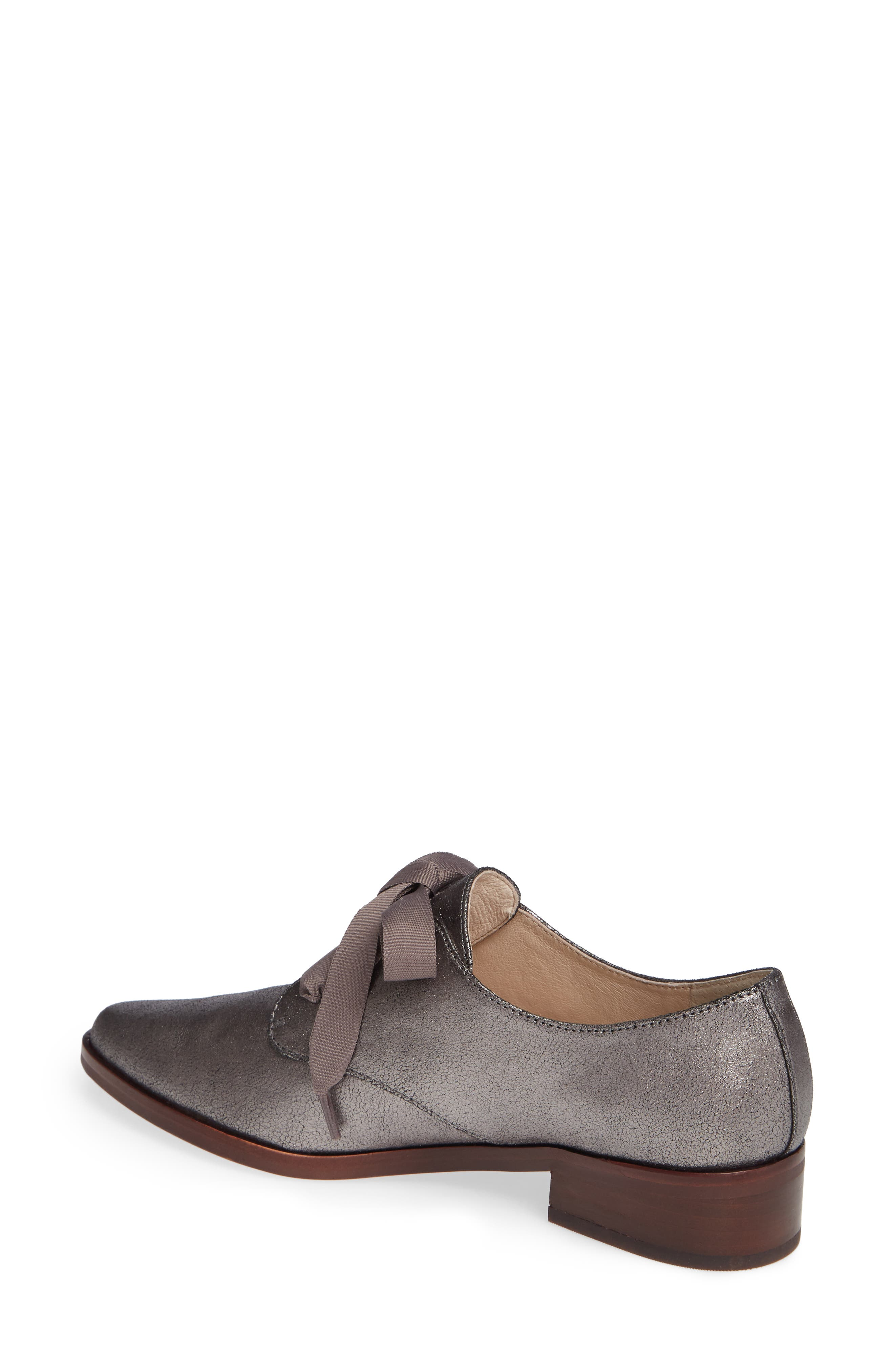Adwin Almond Toe Oxford,                             Alternate thumbnail 2, color,                             PETROL LEATHER