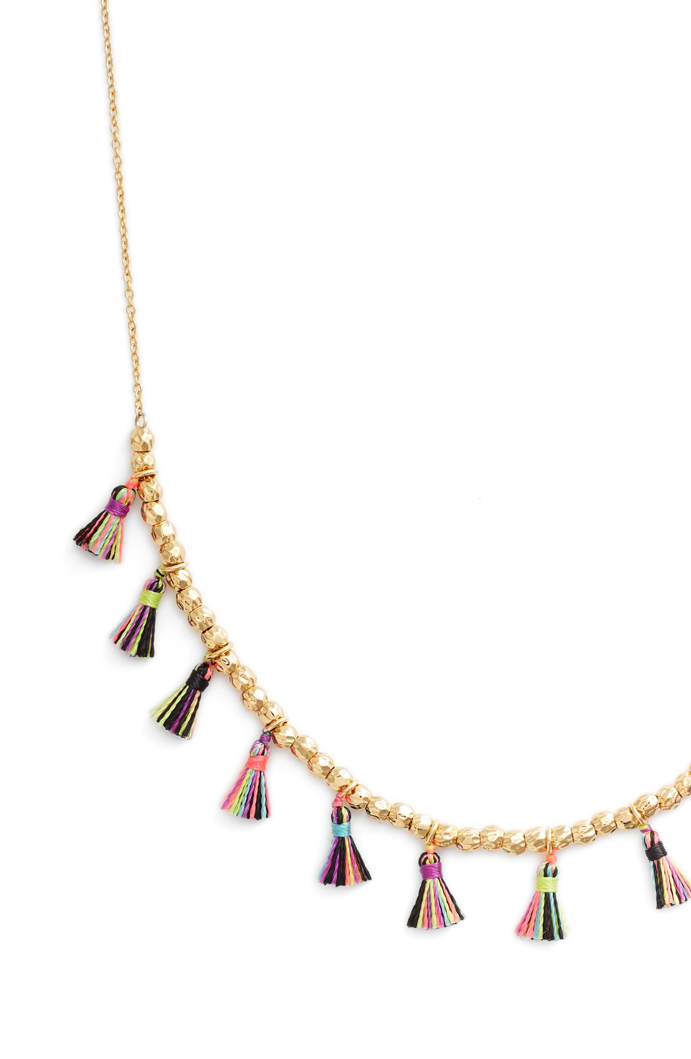 Havana Tassel Adjustable Necklace,                             Alternate thumbnail 2, color,                             TROPIC