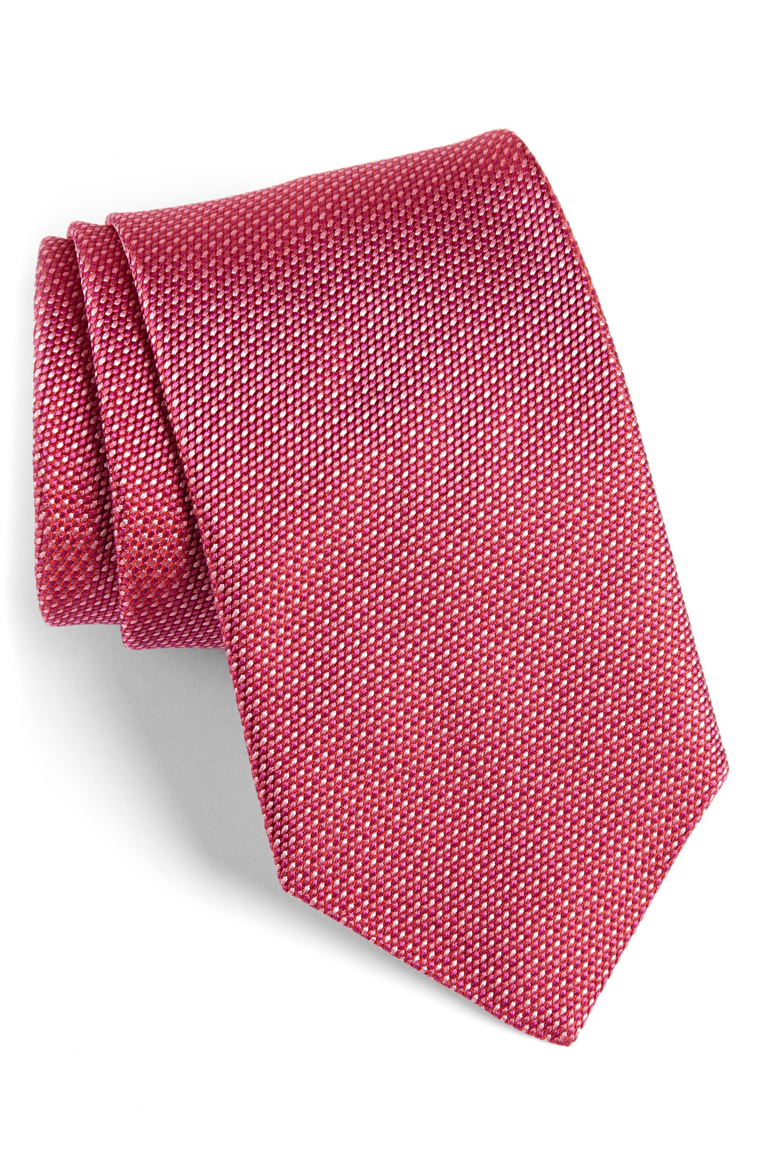 Solid Silk Tie,                         Main,                         color, 652