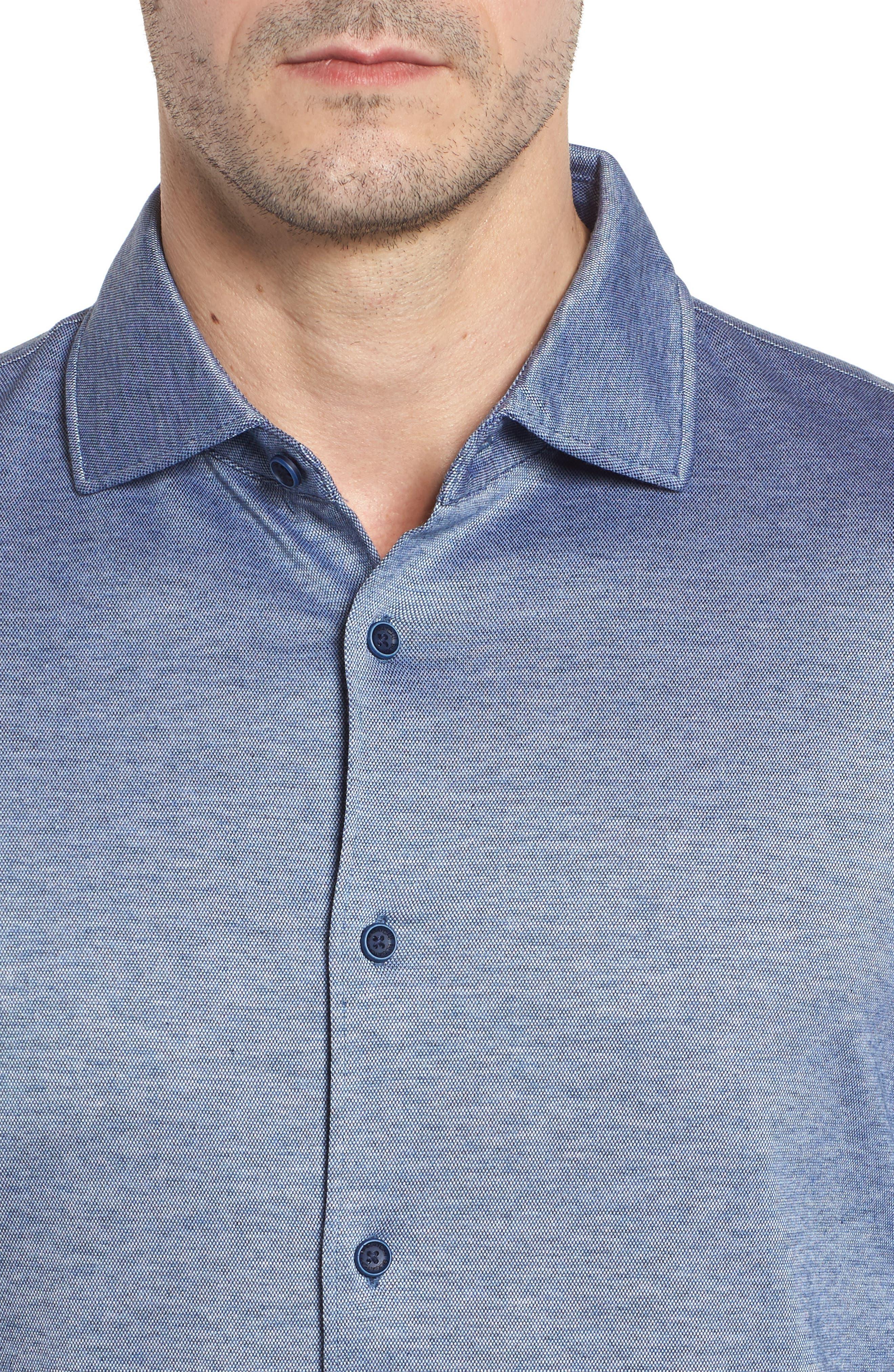 Regular Fit Silk Blend Sport Shirt,                             Alternate thumbnail 18, color,