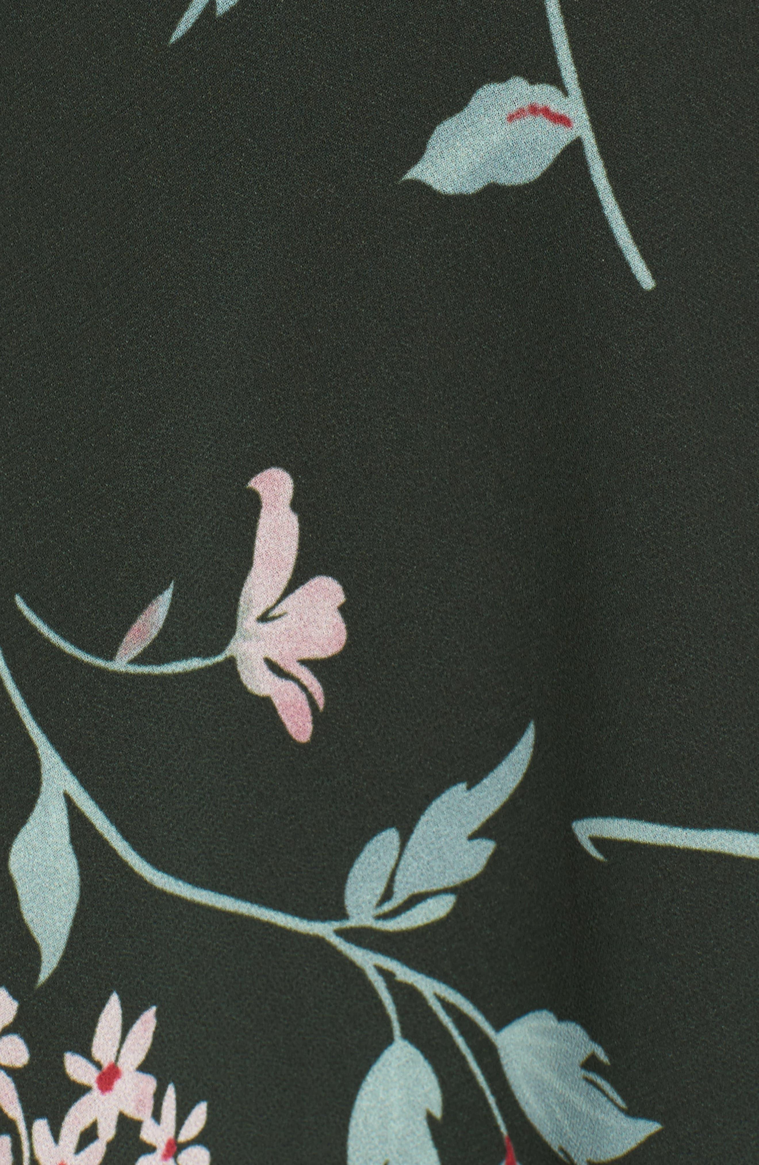 Castor Wrap Dress,                             Alternate thumbnail 5, color,                             001