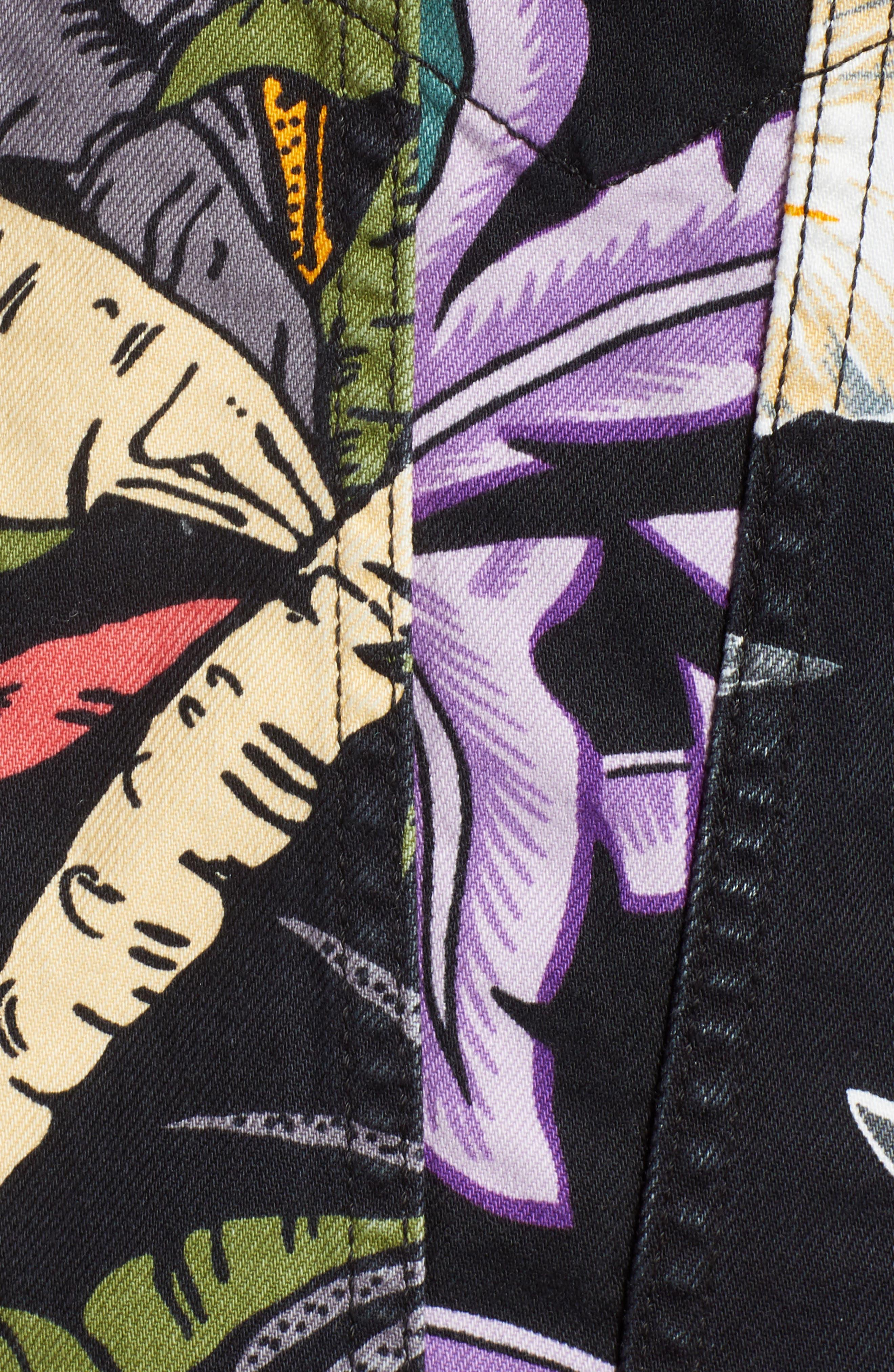 Trucker Denim Jacket,                             Alternate thumbnail 6, color,                             001