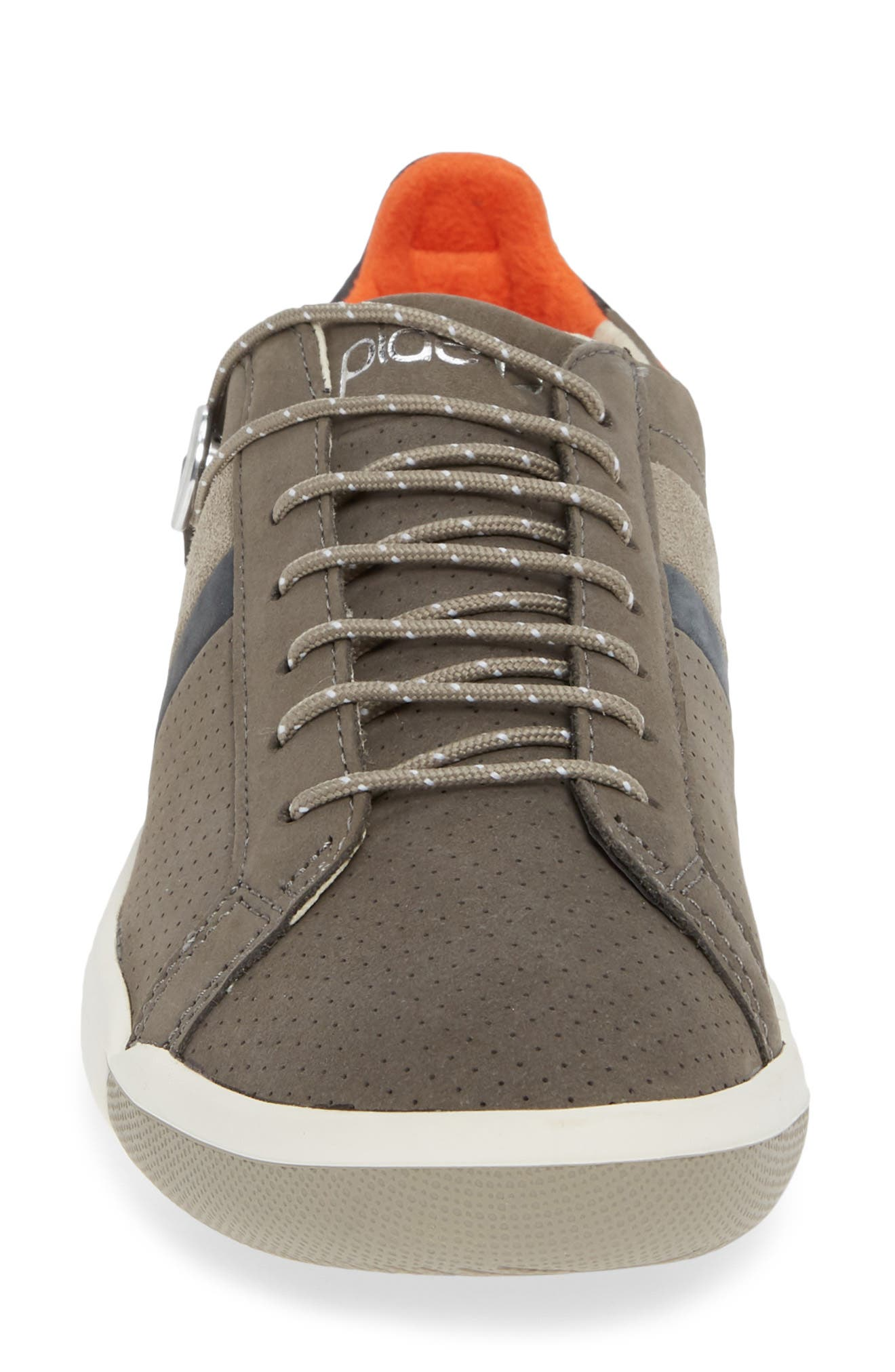 Mulberry Sneaker,                             Alternate thumbnail 4, color,                             GREY NUBUCK LEATHER