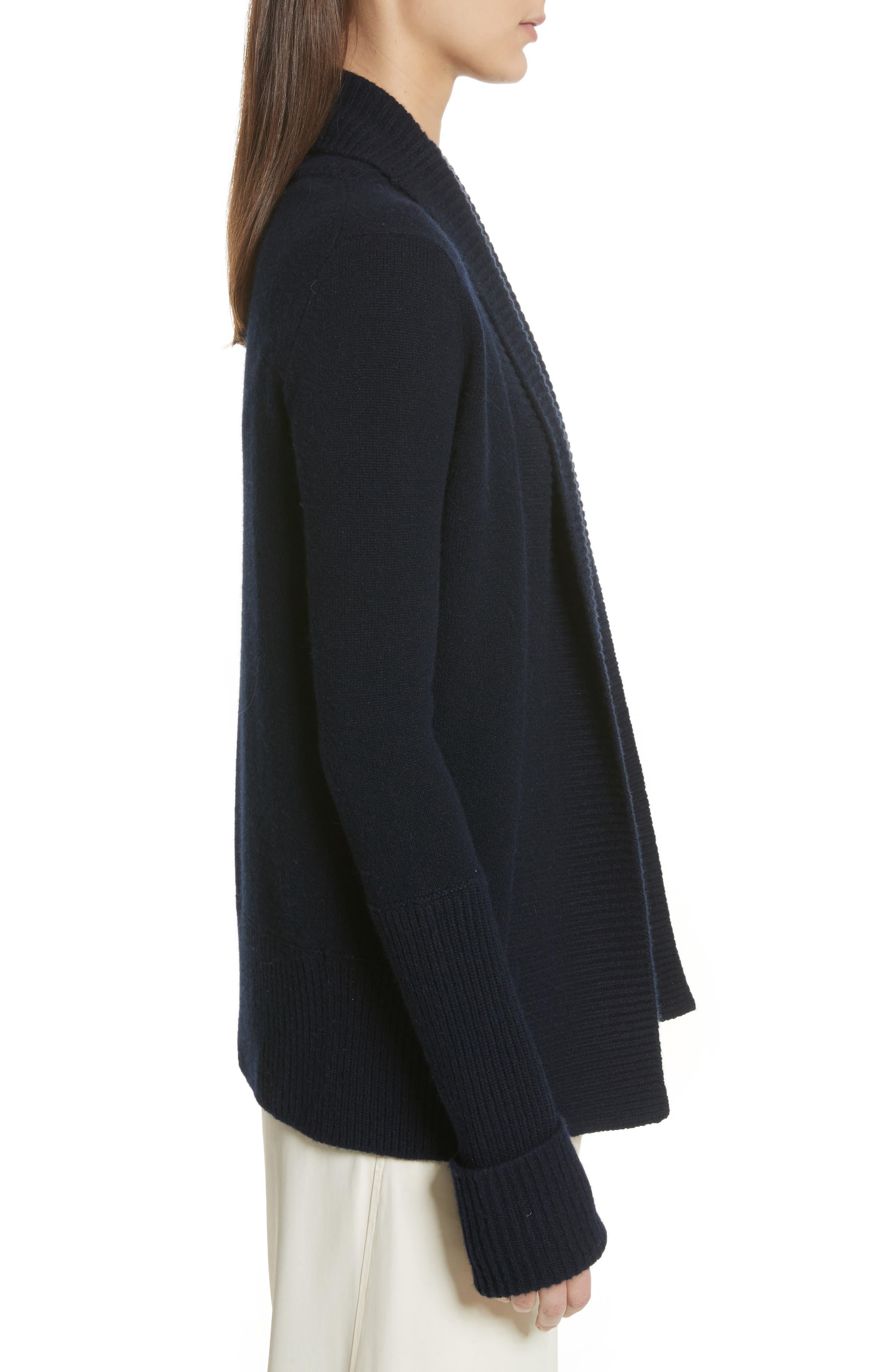 Wide Collar Cashmere Cardigan,                             Alternate thumbnail 9, color,
