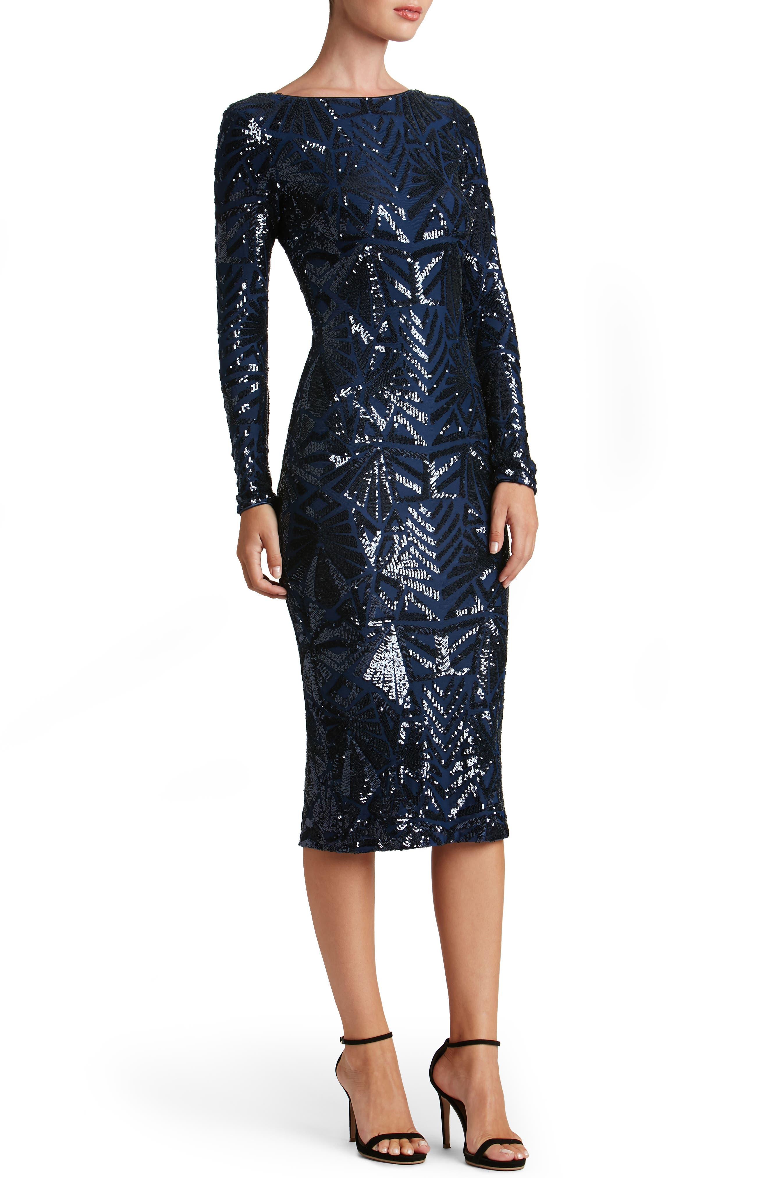 Emery Midi Dress,                             Alternate thumbnail 19, color,