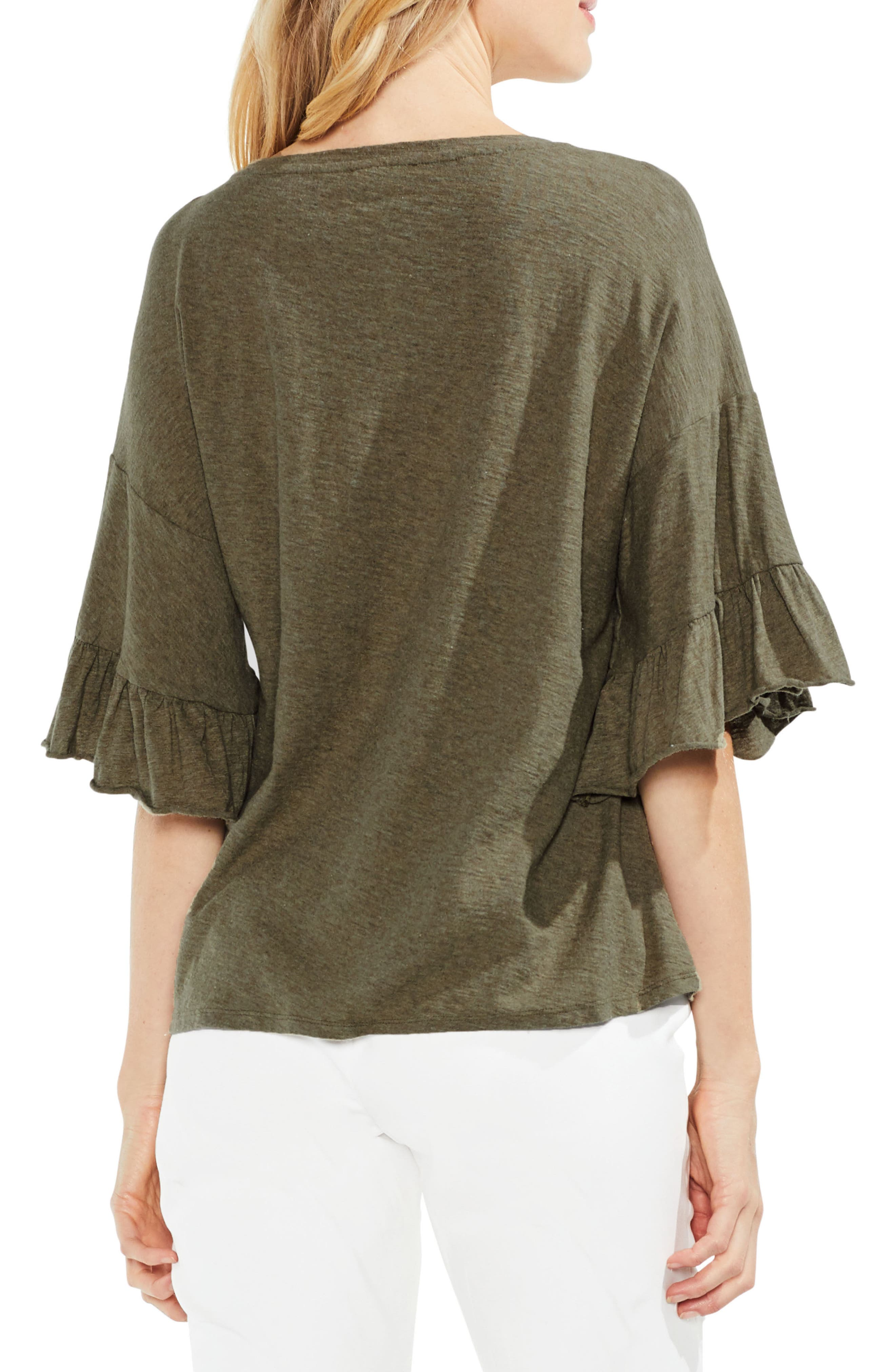 Tiered Ruffle Sleeve Top,                             Alternate thumbnail 2, color,                             371