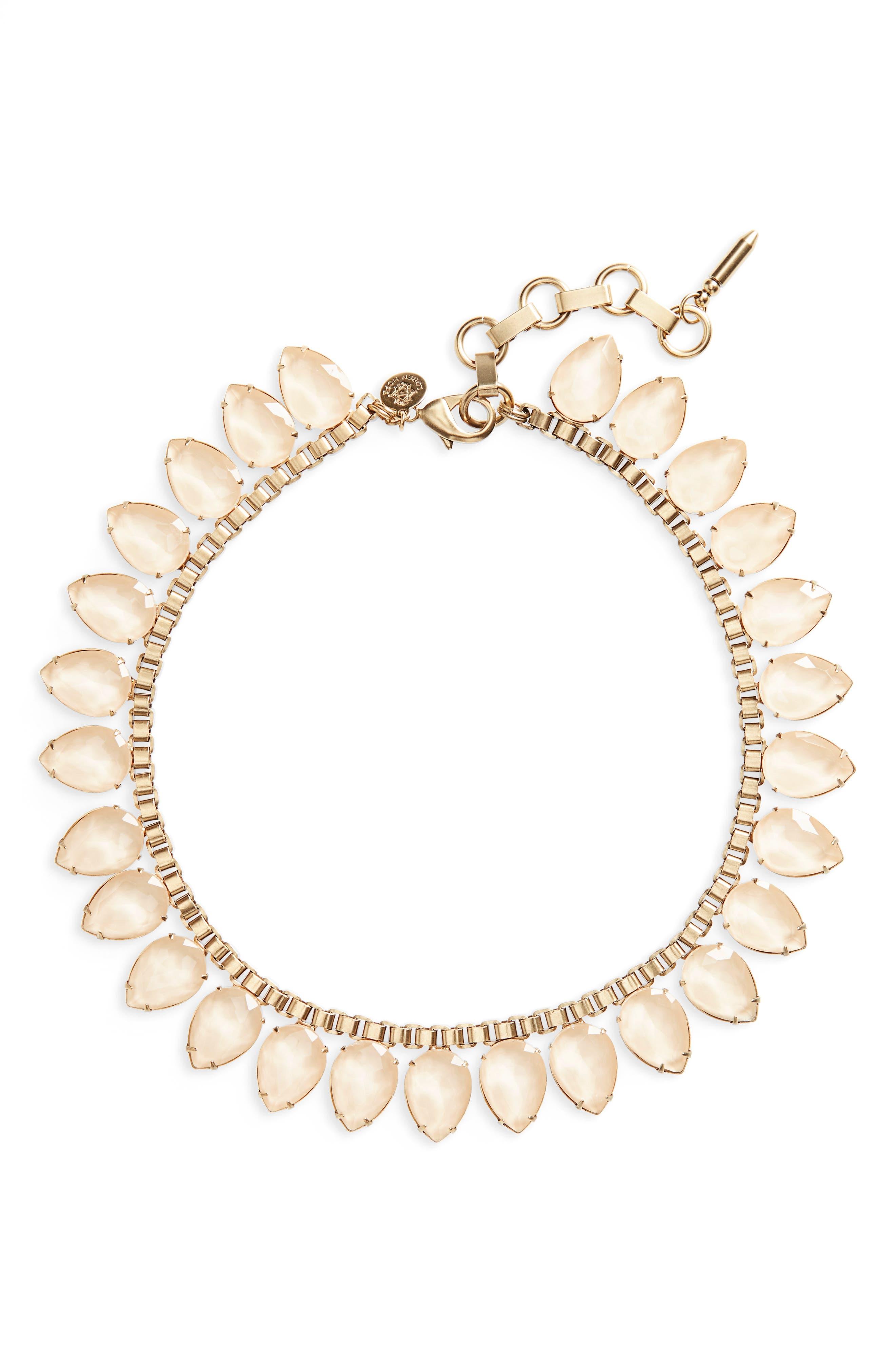 'Sylvia' Crystal Collar Necklace,                             Main thumbnail 10, color,