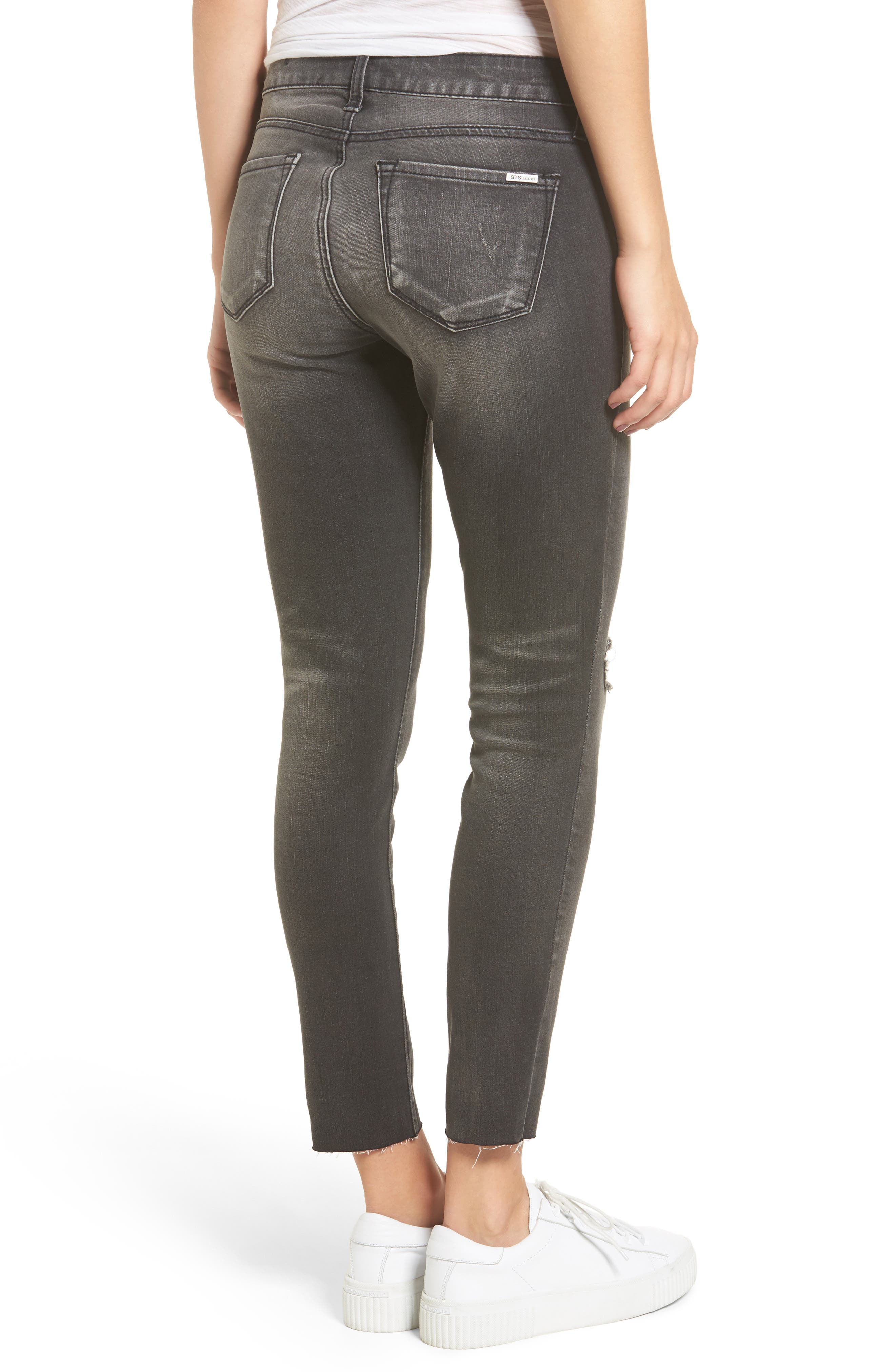 STS Emma Ripped Crop Skinny Jeans,                             Alternate thumbnail 2, color,                             001
