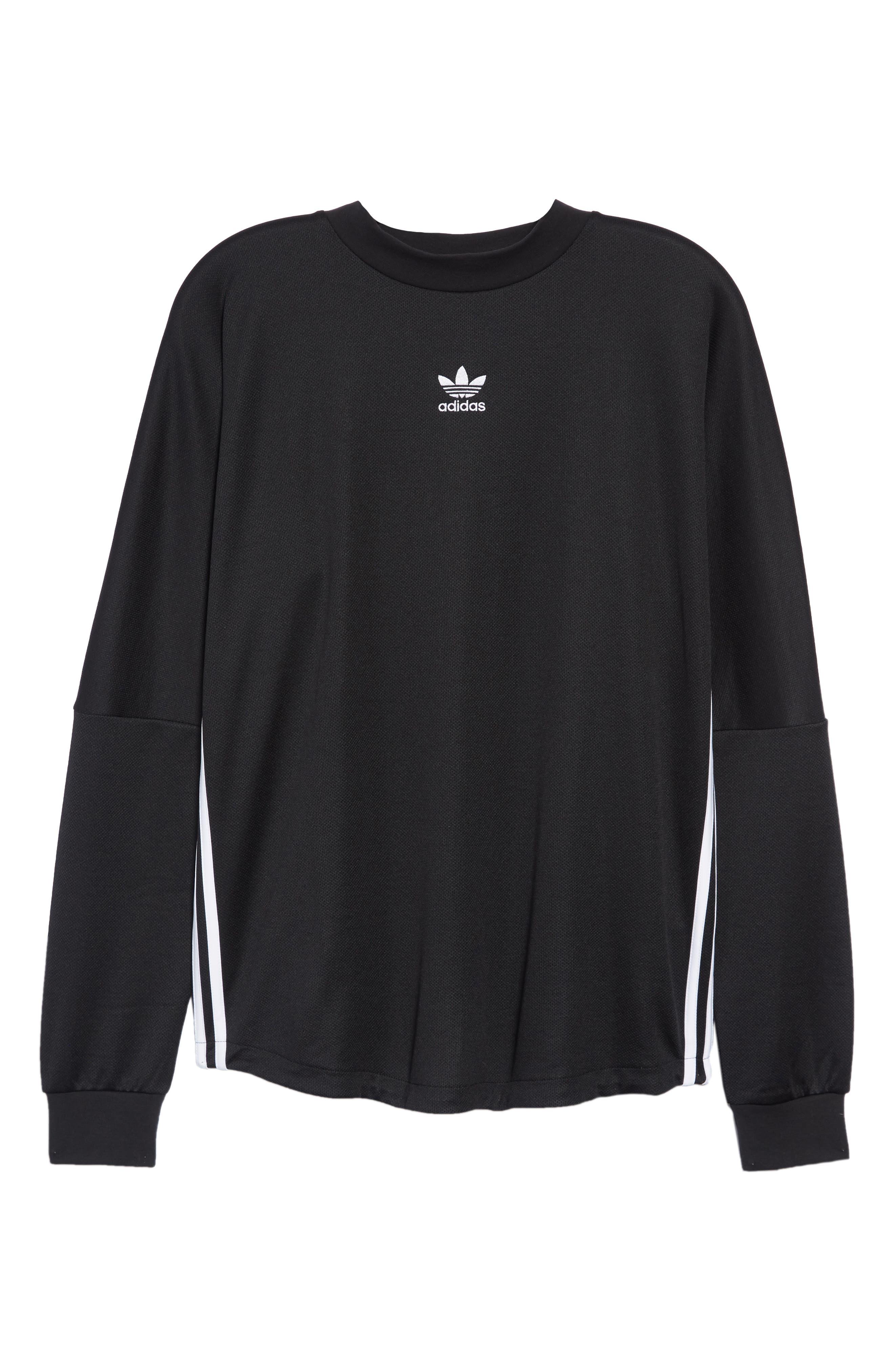 Authentics Long Sleeve Goalie Shirt,                             Alternate thumbnail 6, color,                             BLACK/ WHITE