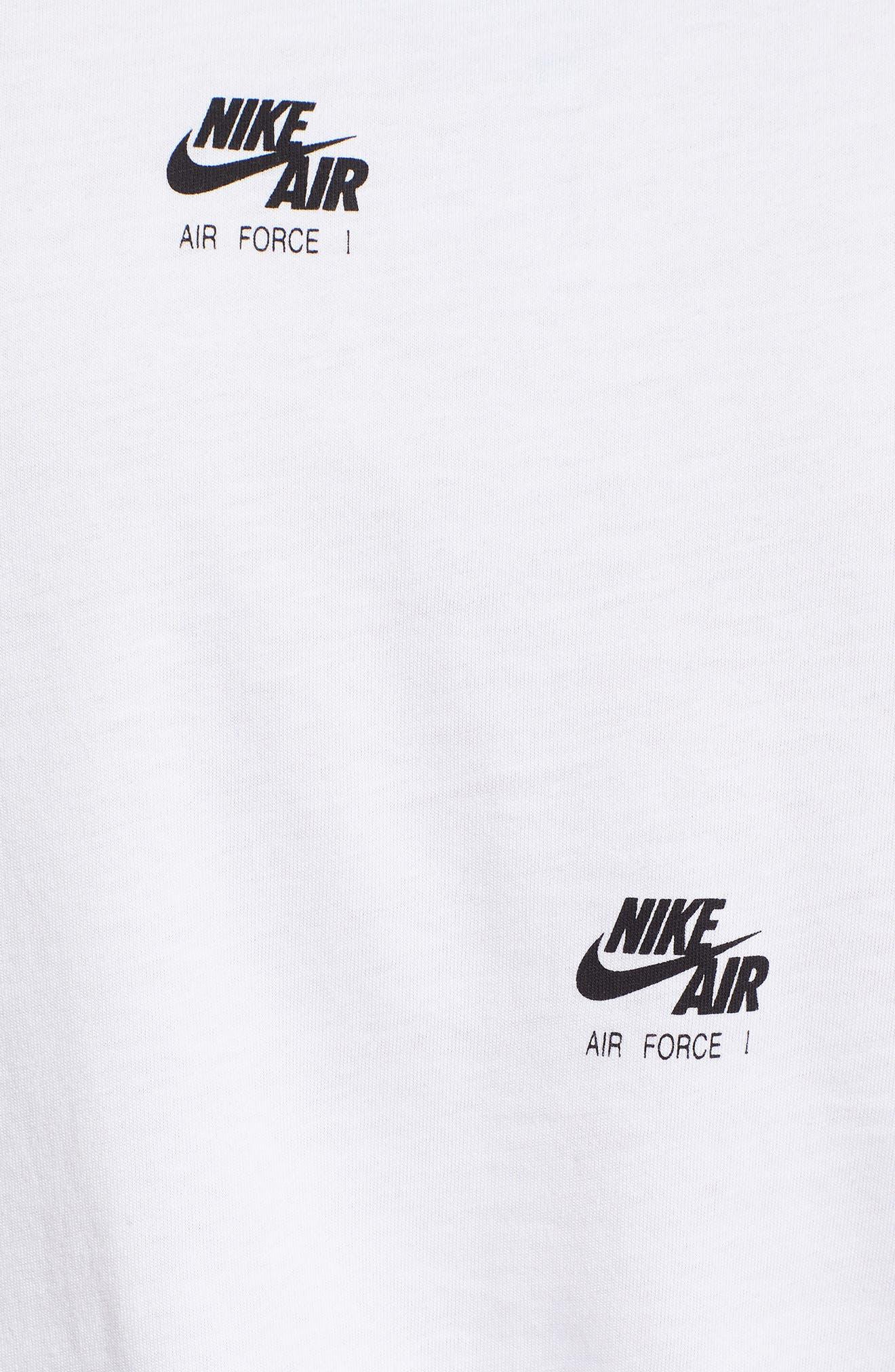 Sportswear AF-1 Print Tank,                             Alternate thumbnail 5, color,                             WHITE/ BLACK