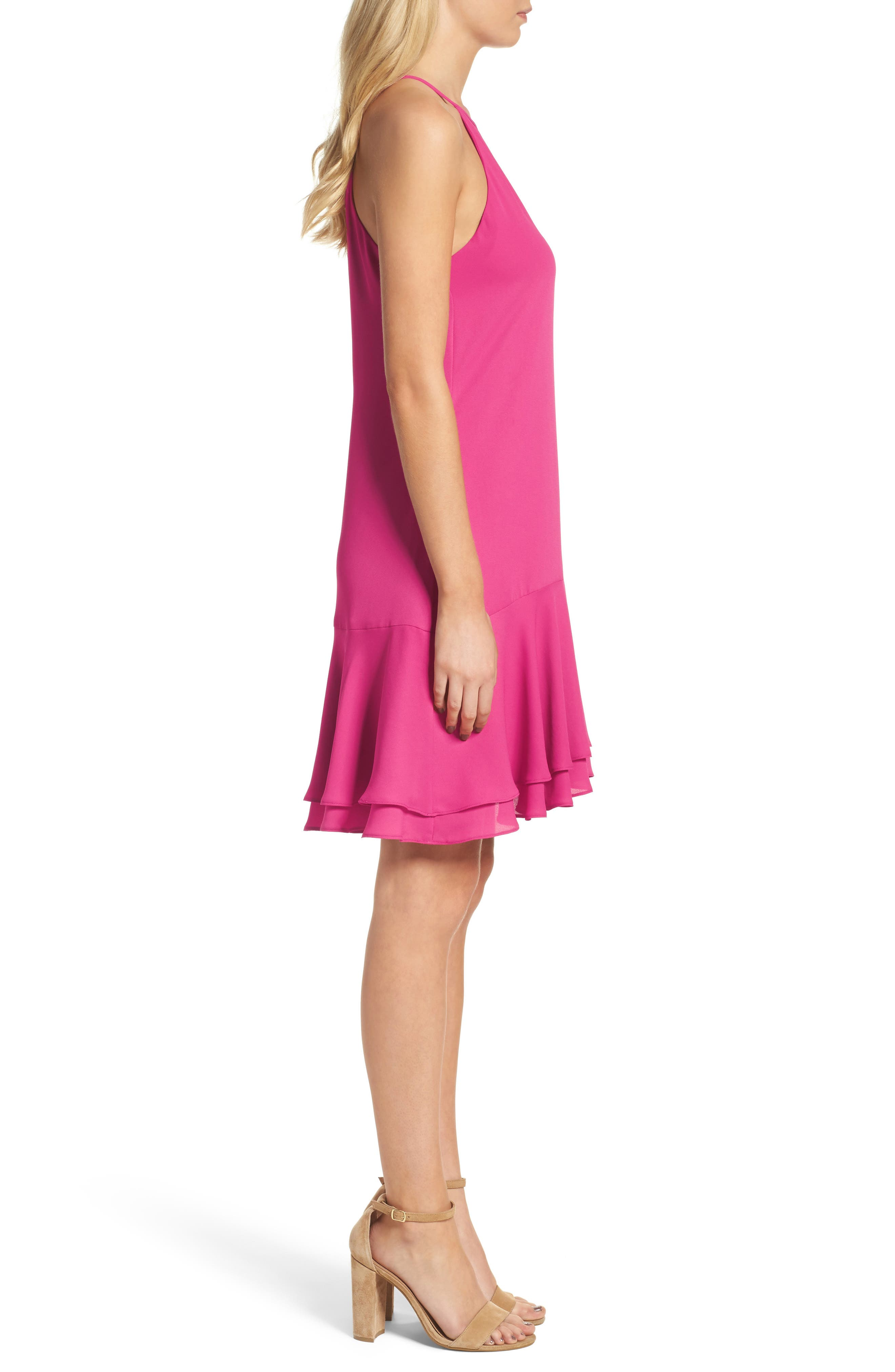 Tiered Shift Dress,                             Alternate thumbnail 7, color,