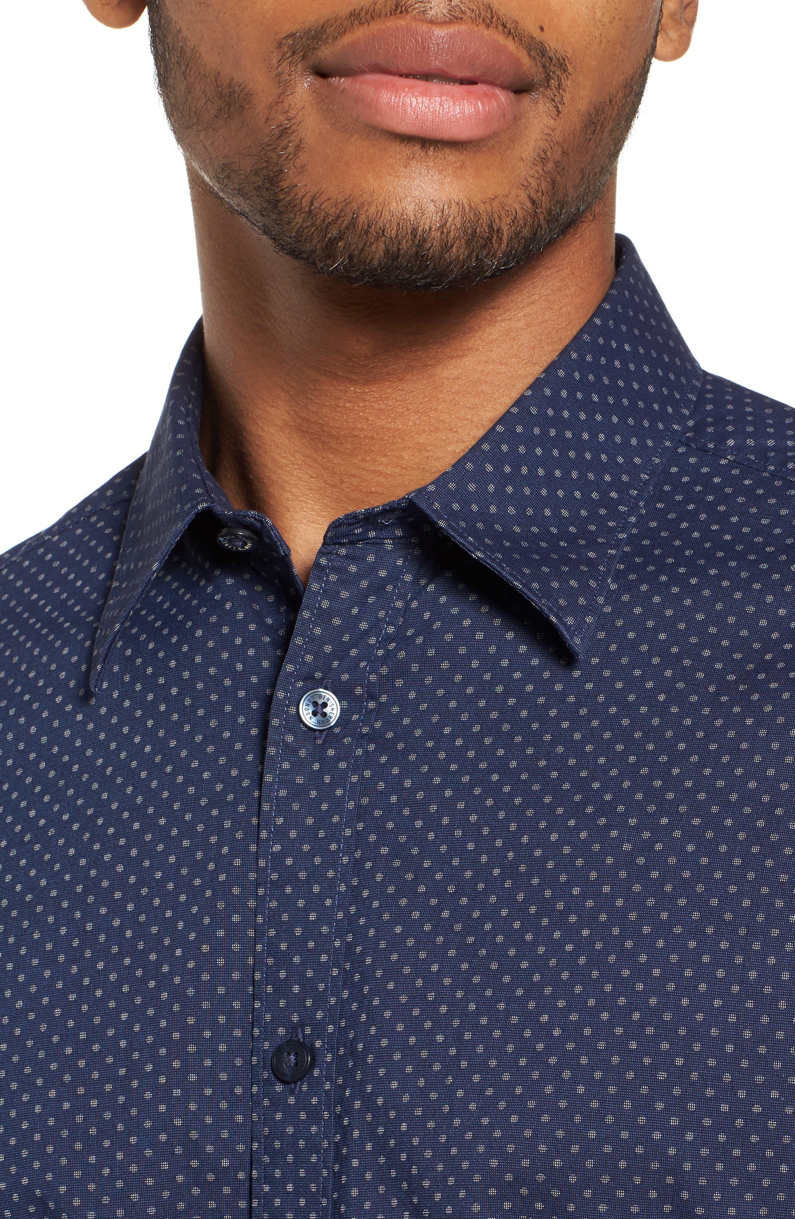 Textured Shirt,                             Alternate thumbnail 4, color,                             410