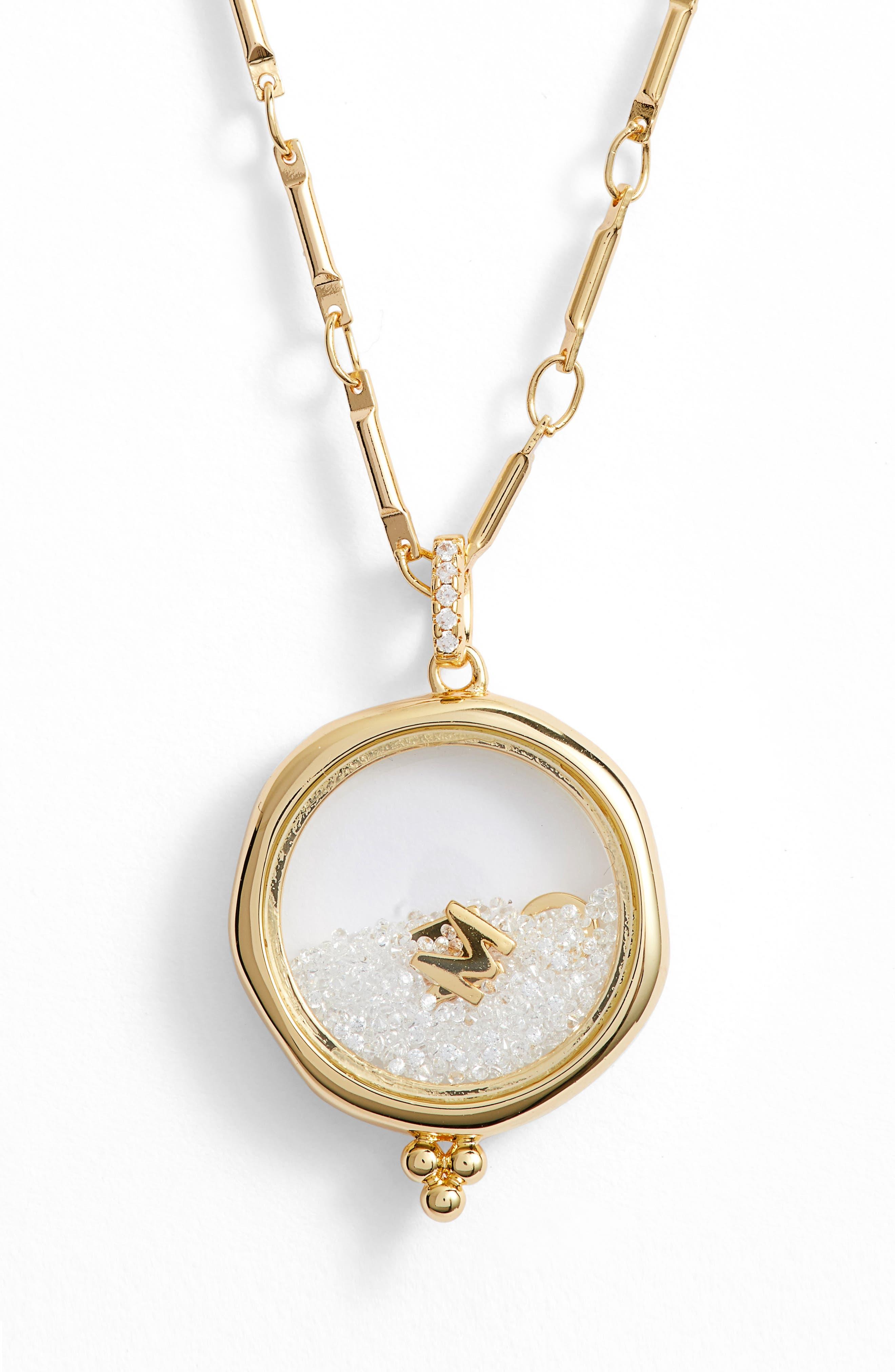 LULU DK X Kristina Schulman Mom Shaker Pendant Necklace in Gold