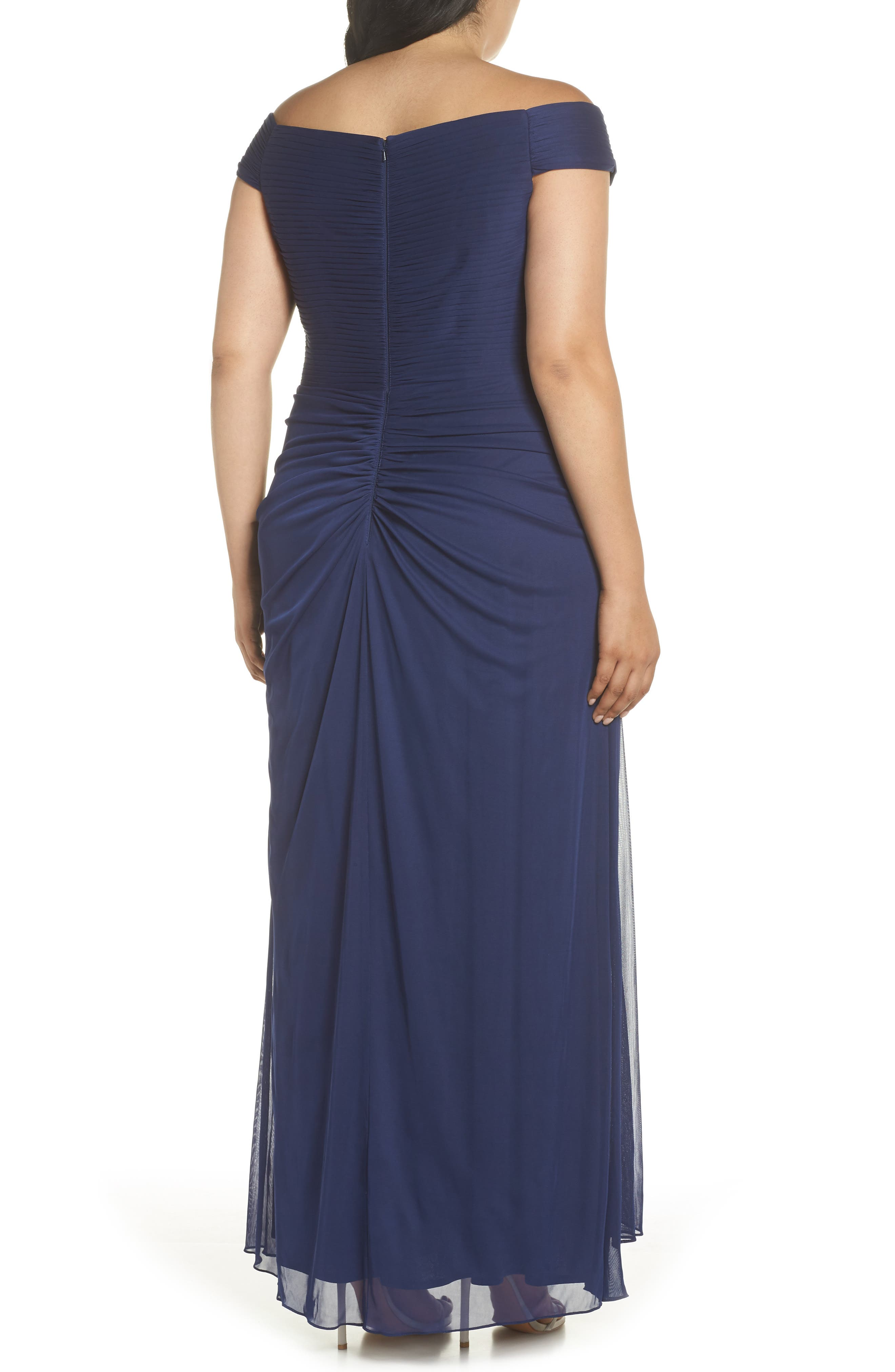 Embellished Pleat Gown,                             Alternate thumbnail 2, color,                             DEEP VIOLET