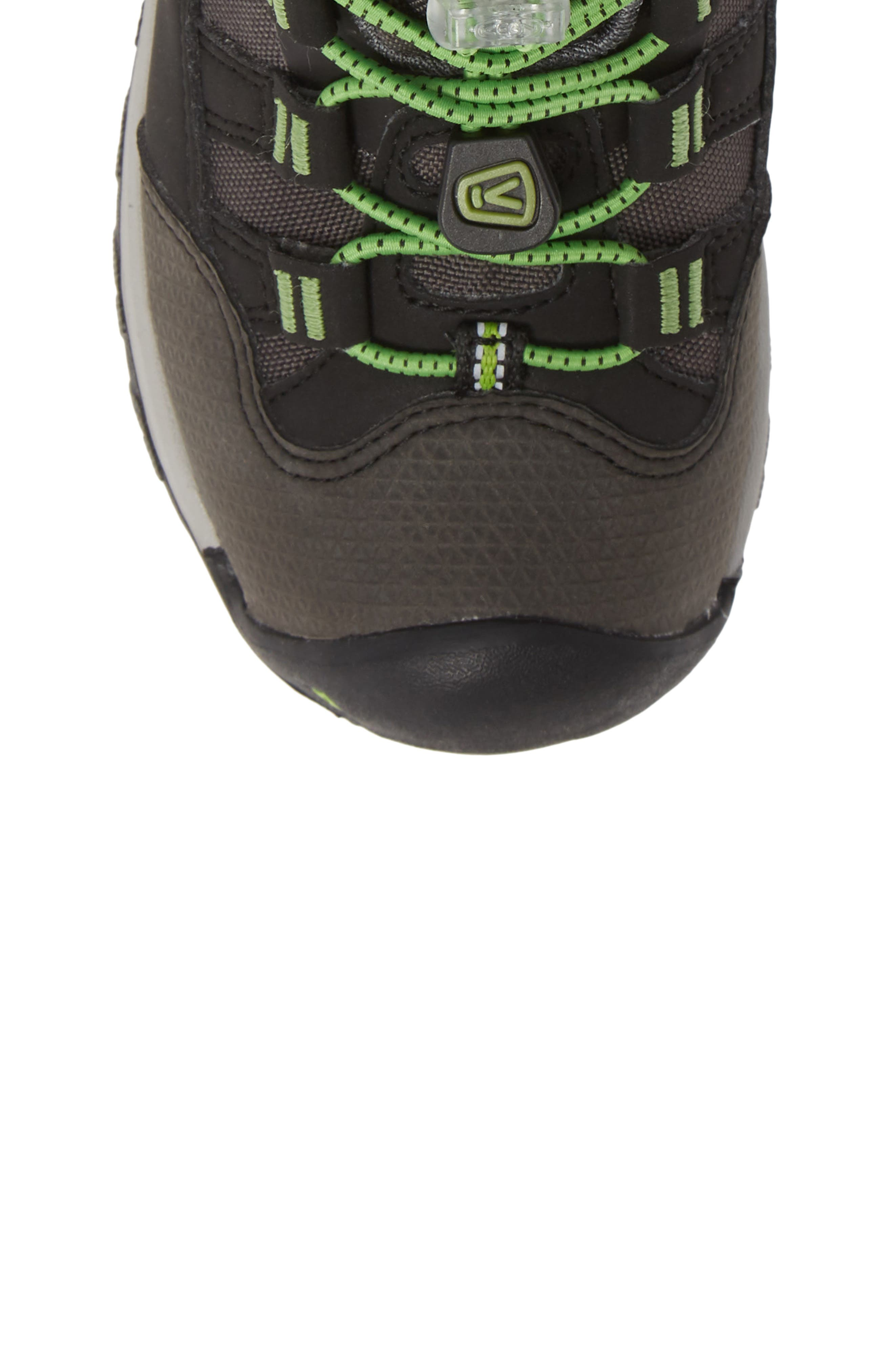 Winterport Neo Waterproof Insulated Boot,                             Alternate thumbnail 5, color,                             BLACK/ GREENERY