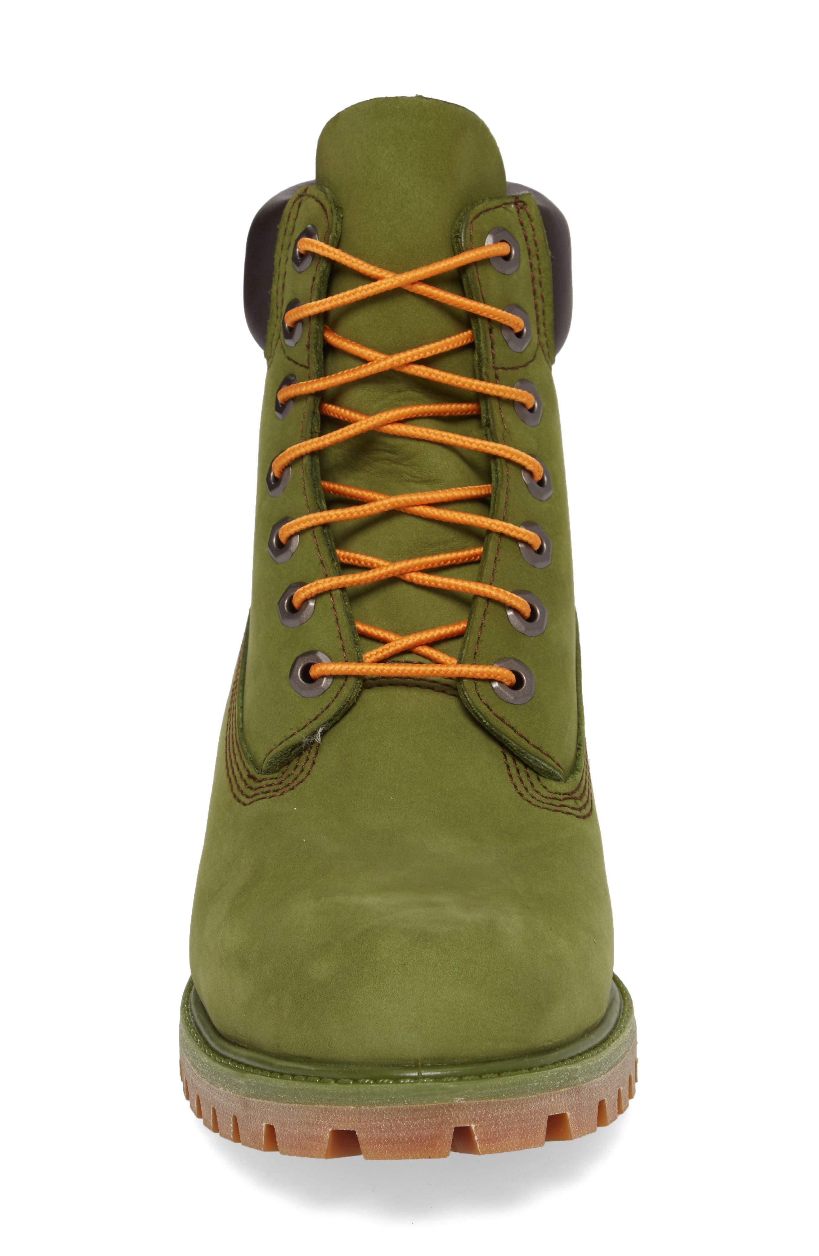 'Six Inch Classic Boots Series - Premium' Boot,                             Alternate thumbnail 4, color,                             PESTO WATERBUCK