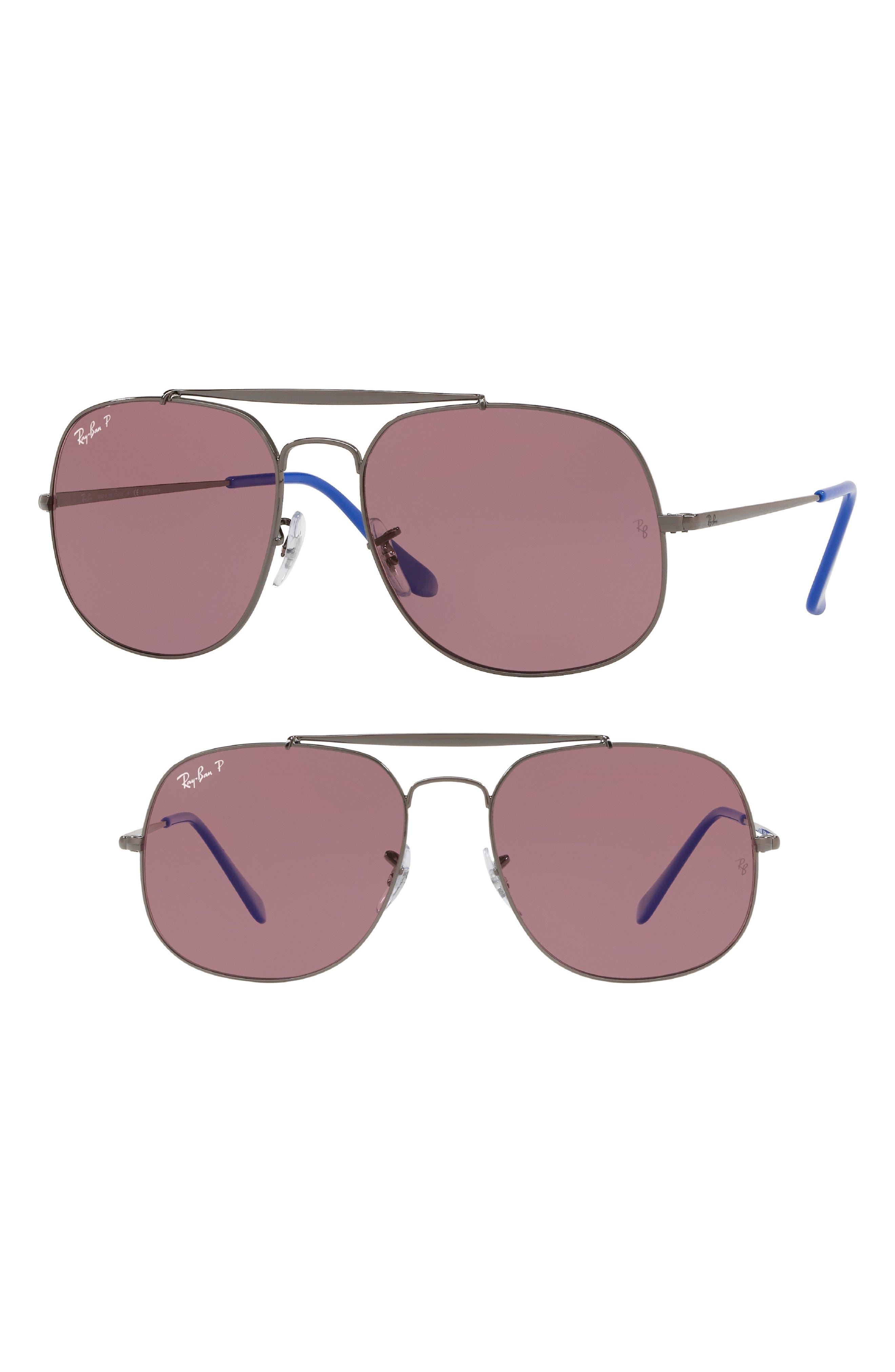 57mm Polarized Aviator Sunglasses,                         Main,                         color, 003