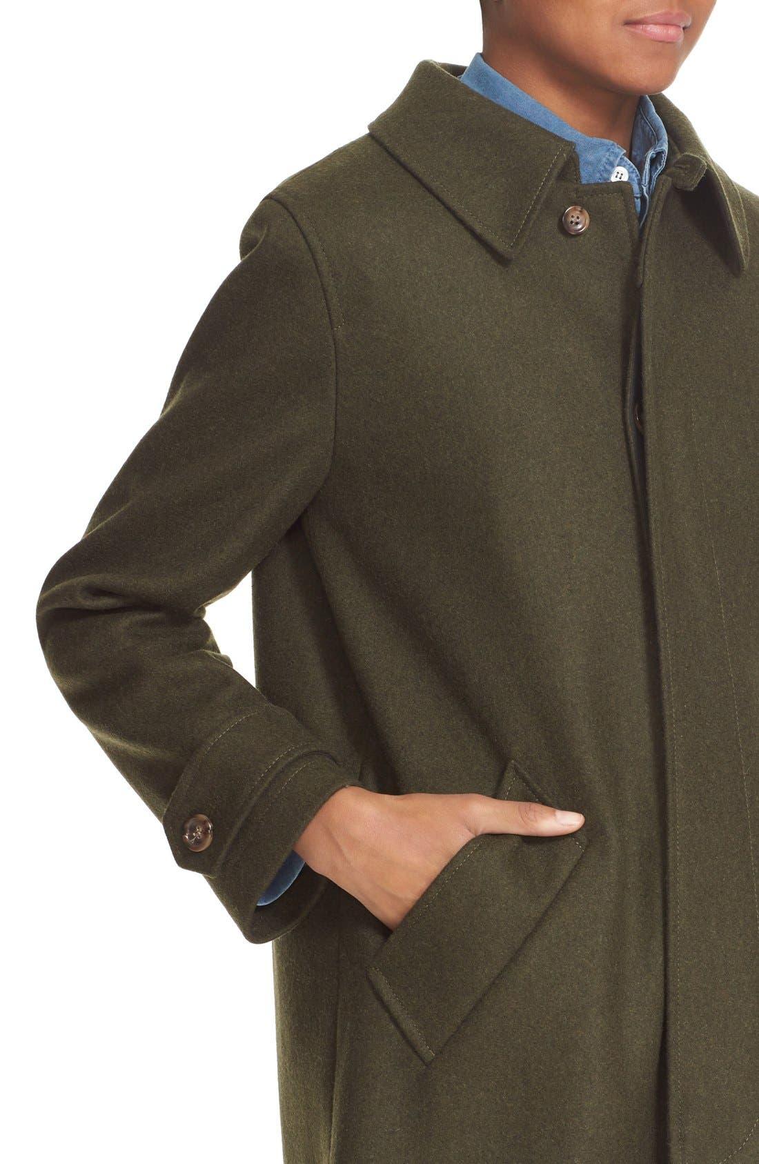 'Dinard' Wool Blend Mac Coat,                             Alternate thumbnail 3, color,                             300