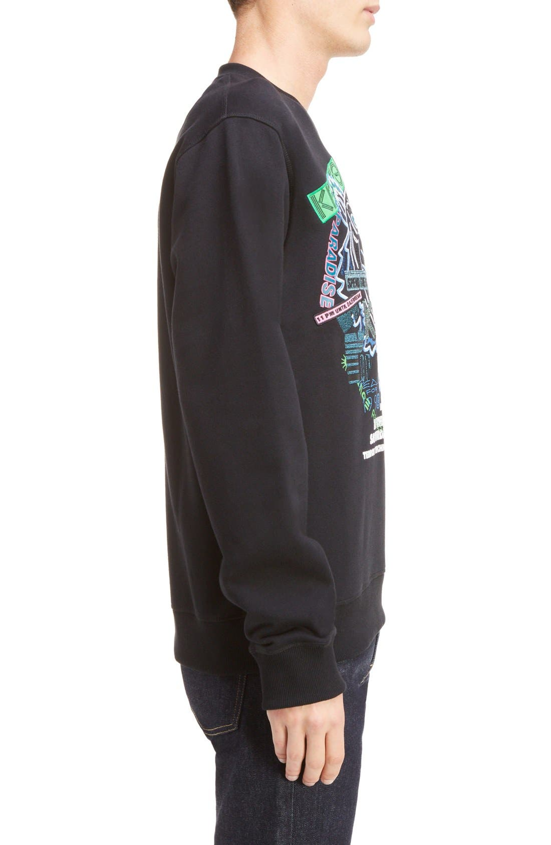 Embroidered Graphic Sweatshirt,                             Alternate thumbnail 3, color,