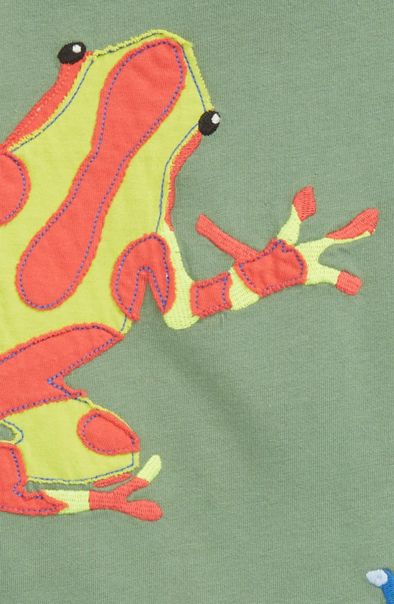 Frogs Appliqué T-Shirt,                             Alternate thumbnail 2, color,