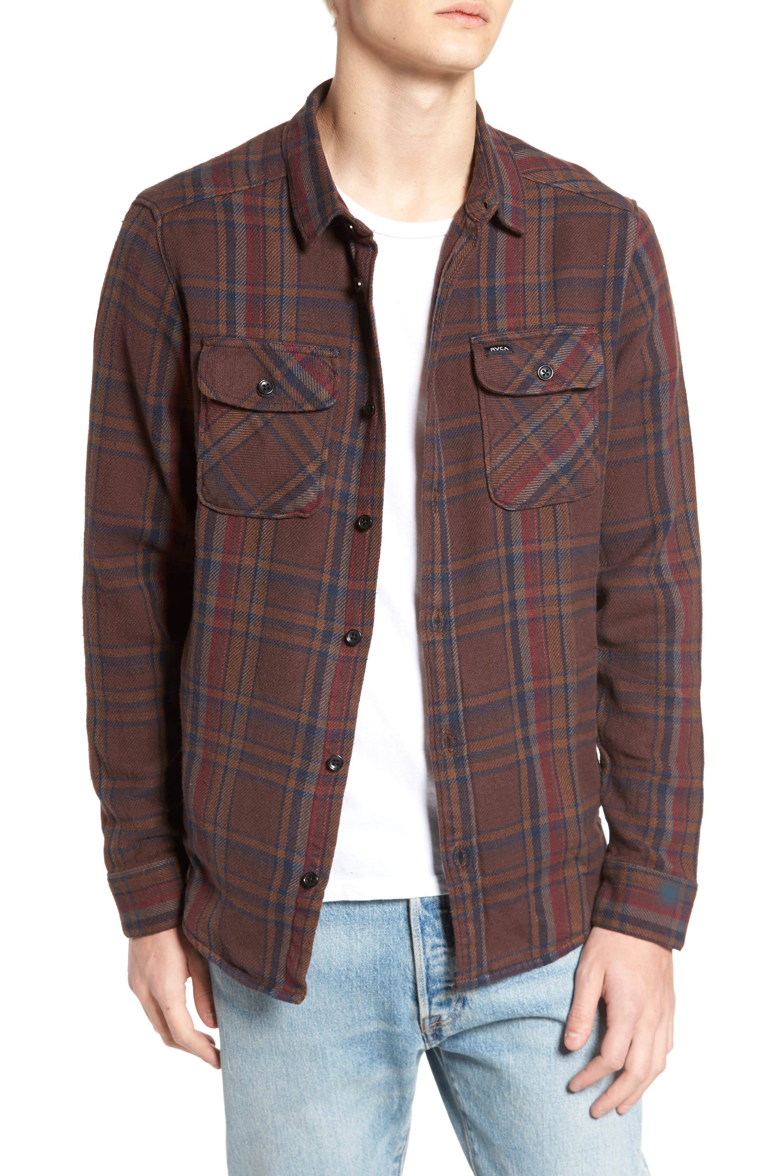Camino Flannel Shirt,                             Main thumbnail 1, color,                             203