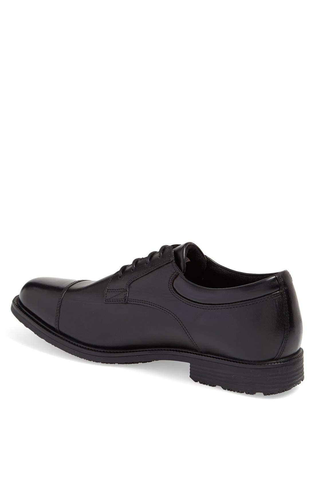 'Essential Details' Waterproof Cap Toe Derby,                             Alternate thumbnail 5, color,                             BLACK