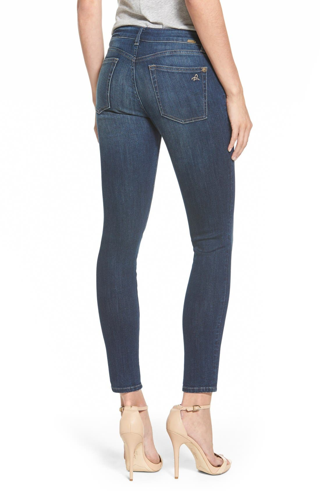 'Margaux' Instasculpt Ankle Skinny Jeans,                             Alternate thumbnail 4, color,                             405