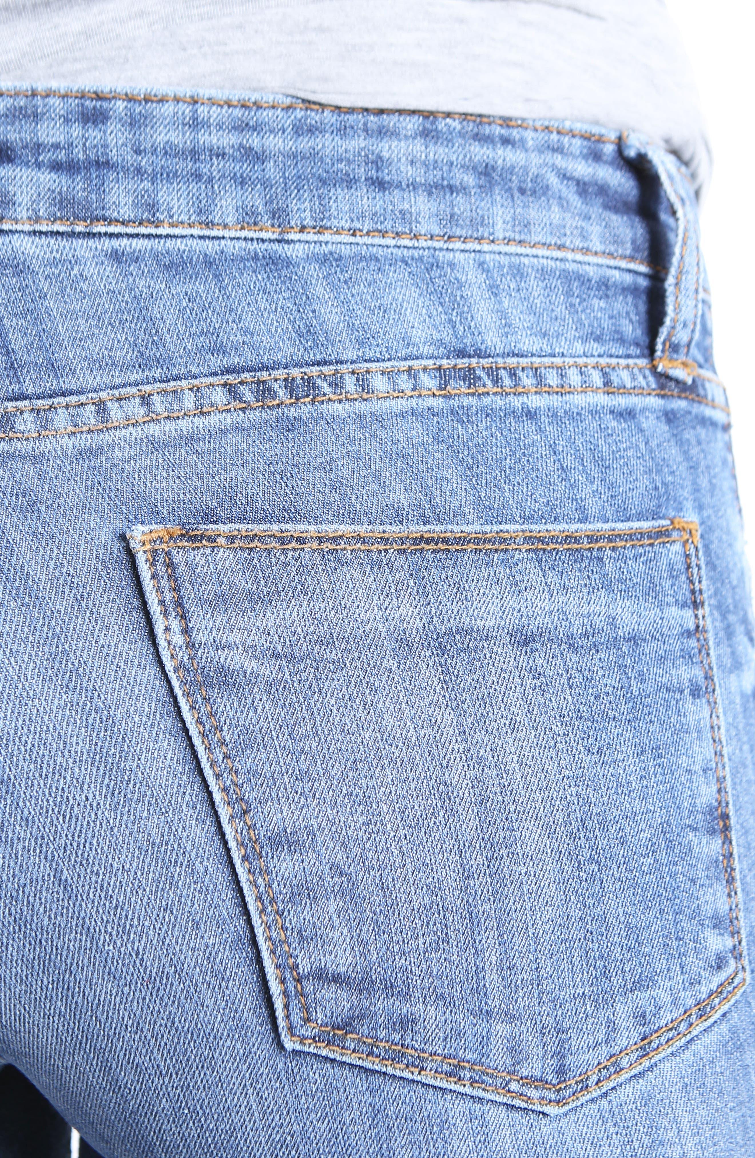 Reese Step Hem Ankle Jeans,                             Alternate thumbnail 4, color,                             466