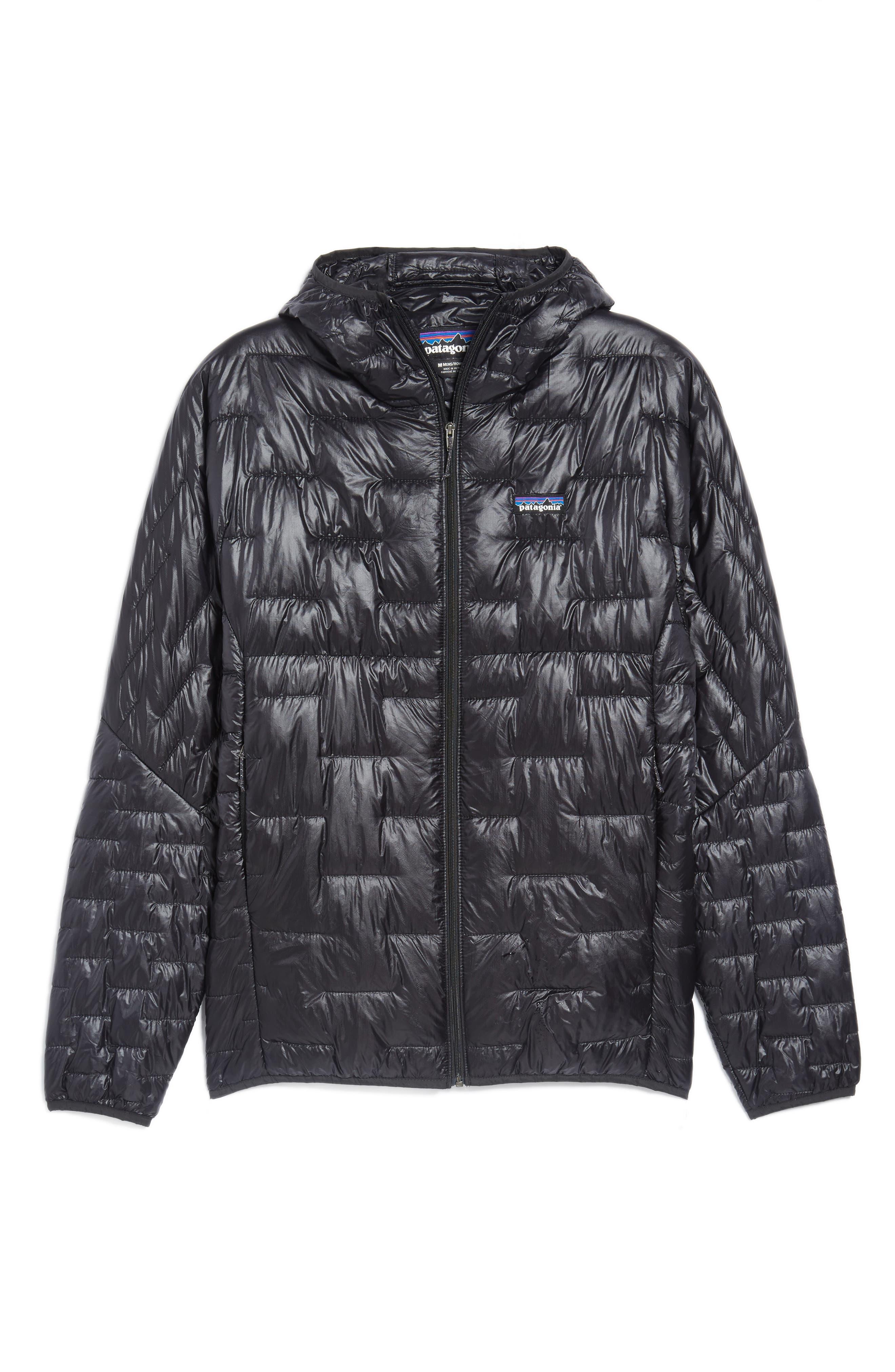 Micro Puff Jacket,                             Alternate thumbnail 5, color,                             BLACK