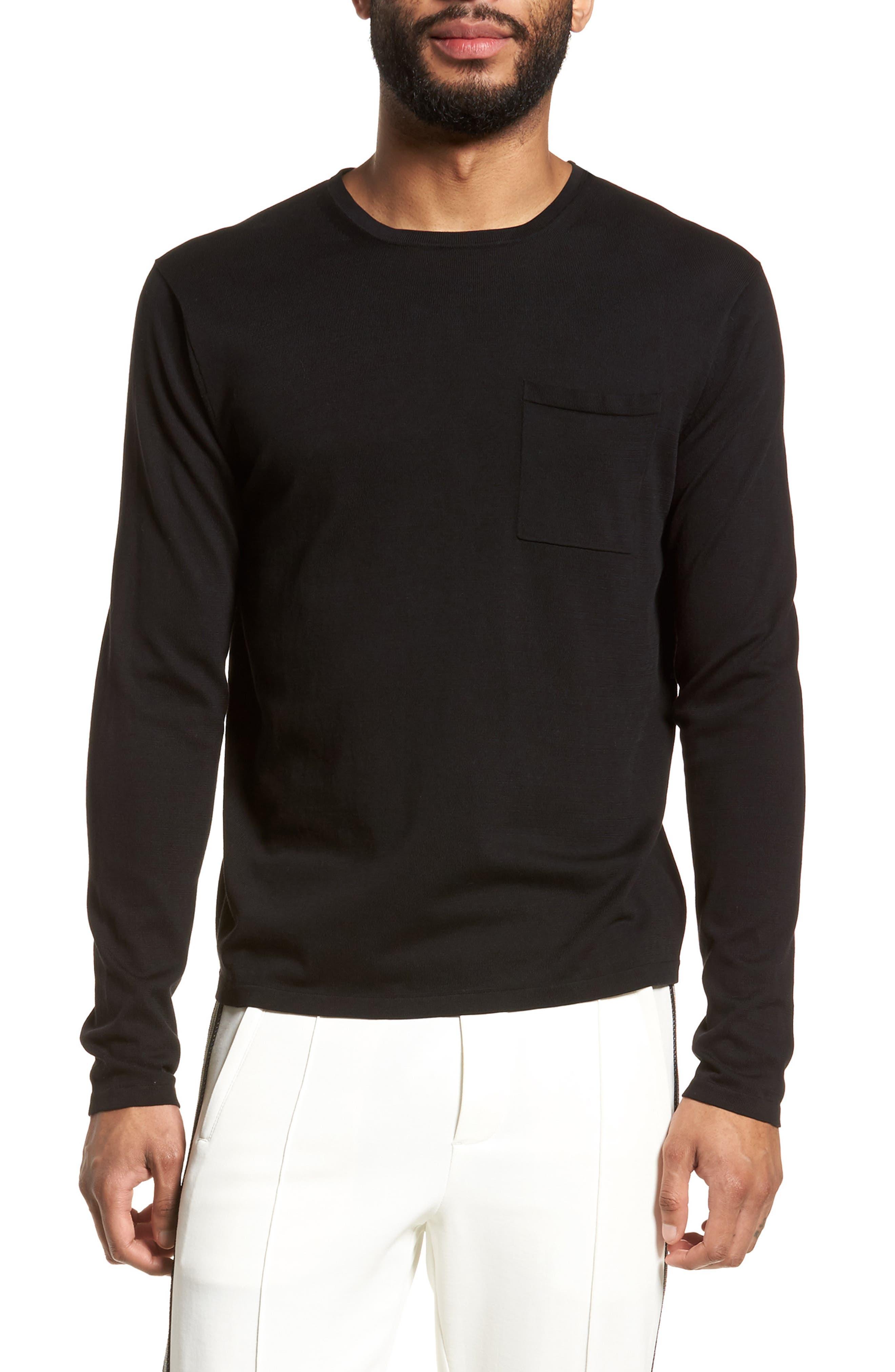 Long Sleeve Pocket T-Shirt,                             Main thumbnail 1, color,                             001