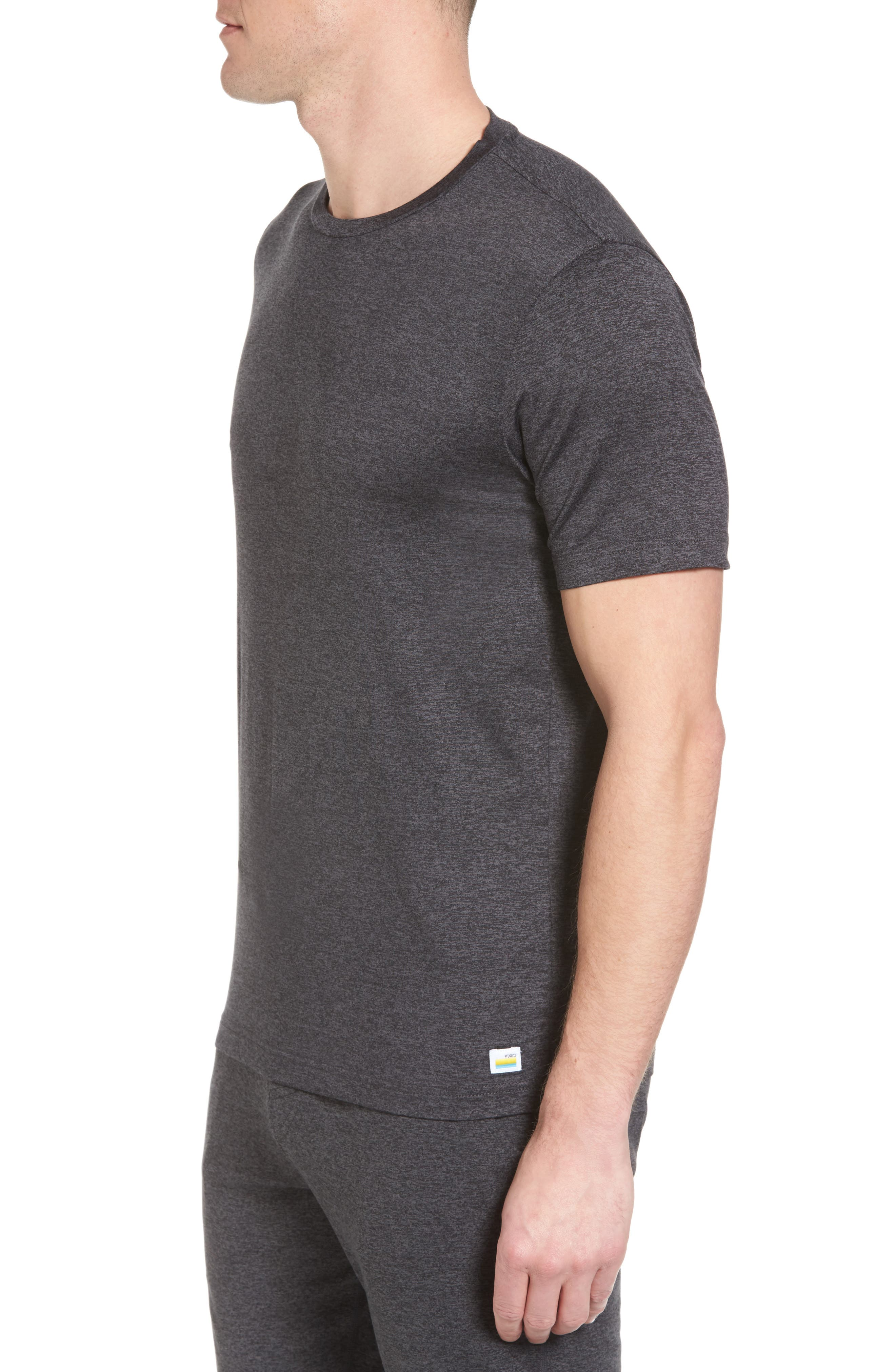 Strato Slim Fit Crewneck T-Shirt,                             Alternate thumbnail 3, color,                             HEATHER CHARCOAL