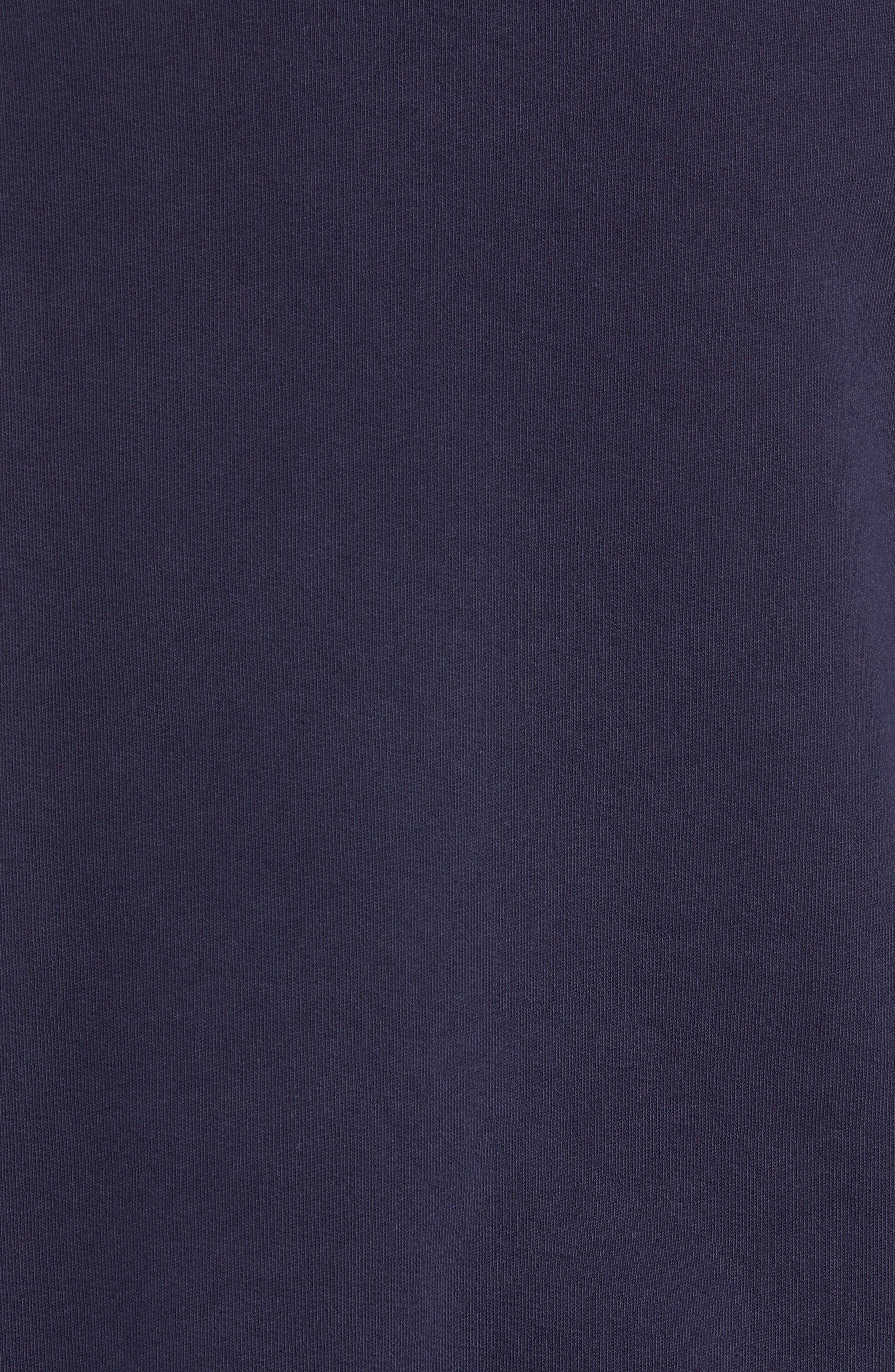 Slim Fit Lion Embroidered Sweatshirt,                             Alternate thumbnail 5, color,                             NAVY BLAZER