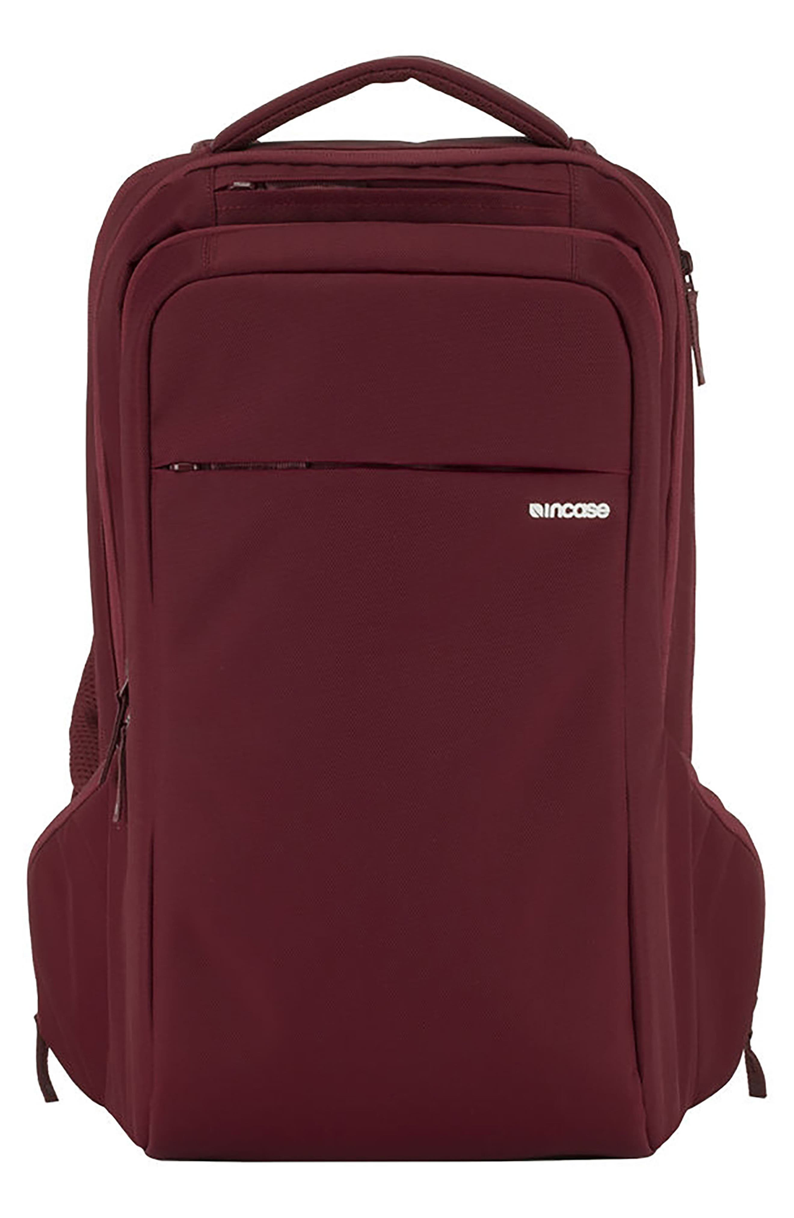 Icon Backpack,                             Main thumbnail 1, color,                             DEEP RED