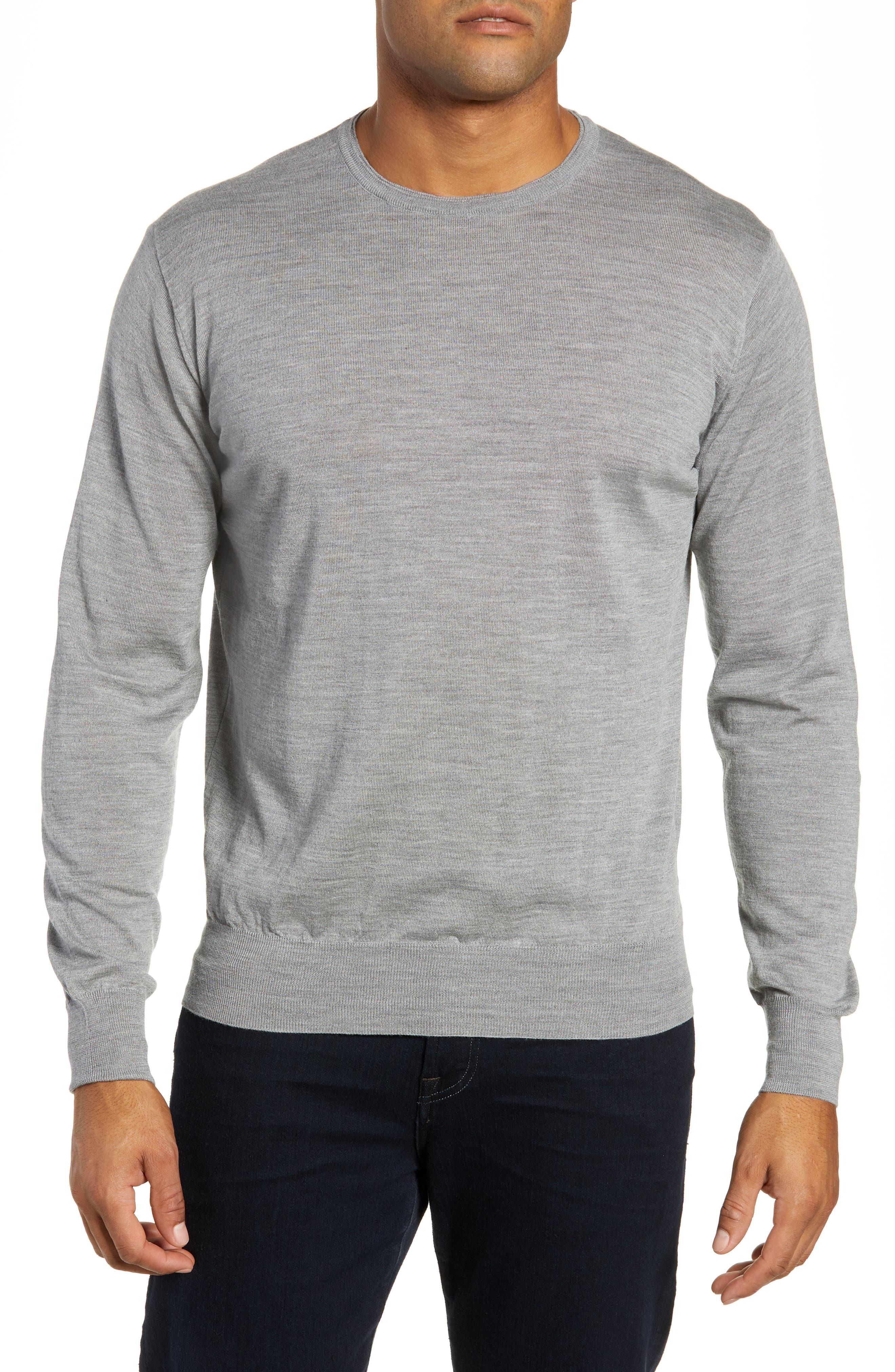Merino Wool & Silk Crewneck Sweater,                             Main thumbnail 1, color,                             036
