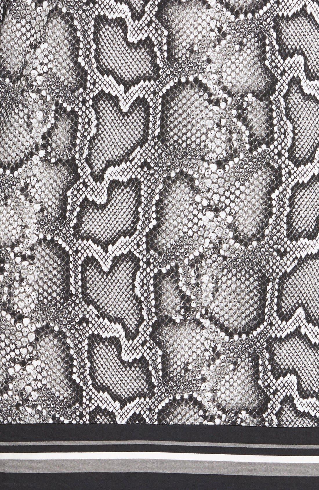 'Cobra' Snakeskin Print Boatneck Jersey Shift Dress,                             Alternate thumbnail 2, color,                             033