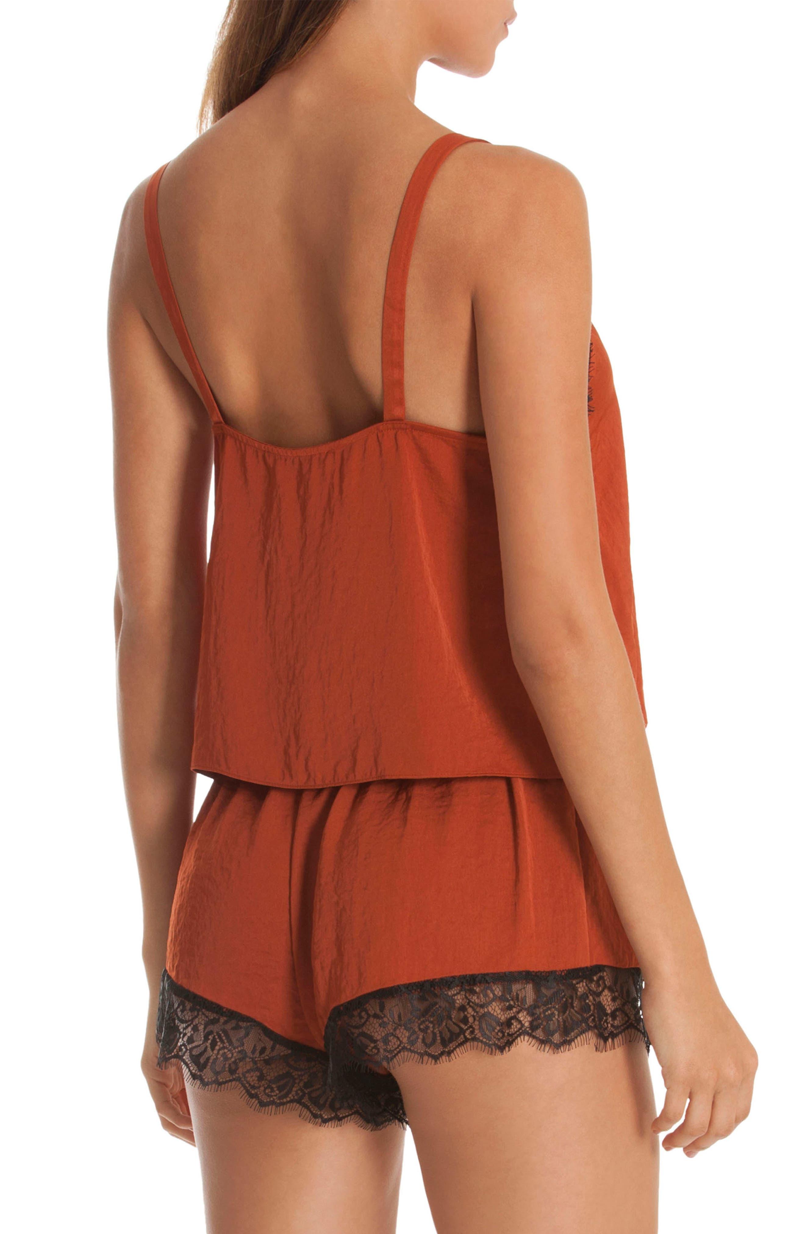 Lace Trim Short Pajamas,                             Alternate thumbnail 2, color,                             220