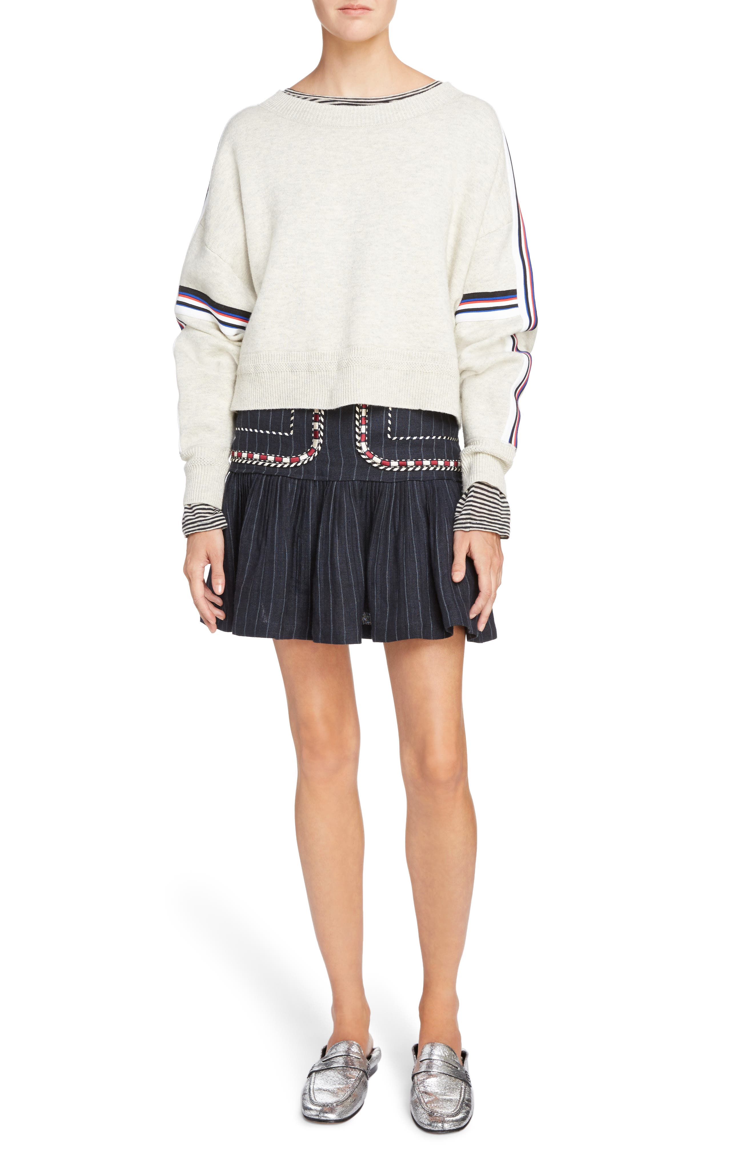 Isabel Marant Étoile Kao Sweatshirt,                             Alternate thumbnail 6, color,