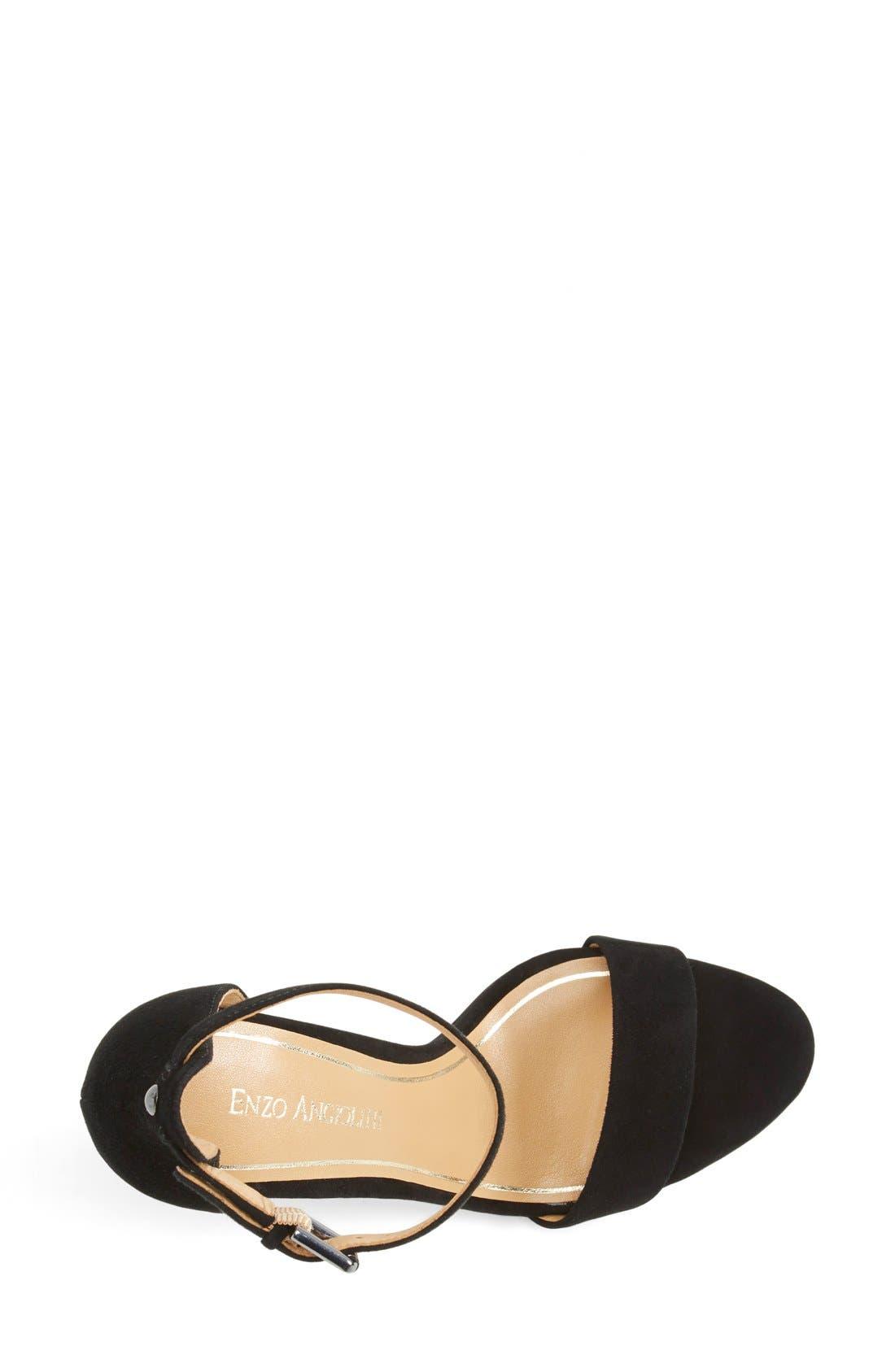 'Manna' Ankle Strap Sandal,                             Alternate thumbnail 3, color,                             001