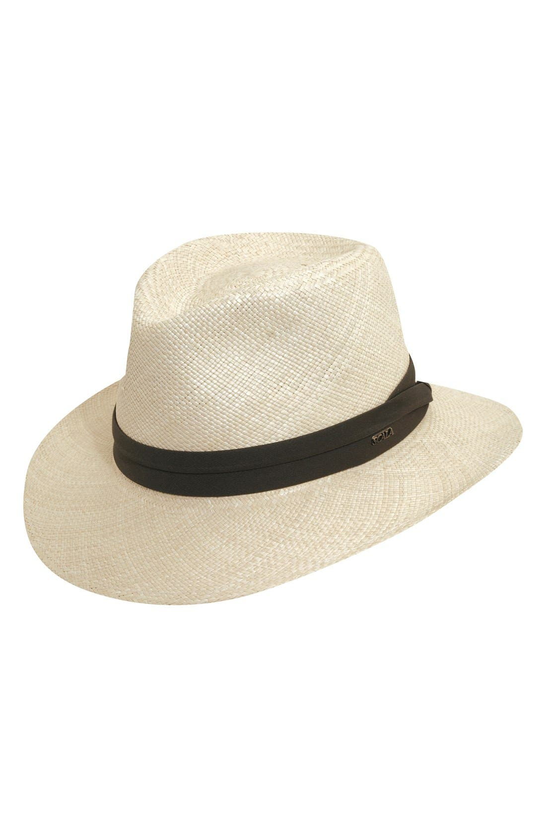 Straw Outback Hat,                             Main thumbnail 1, color,                             NATURAL