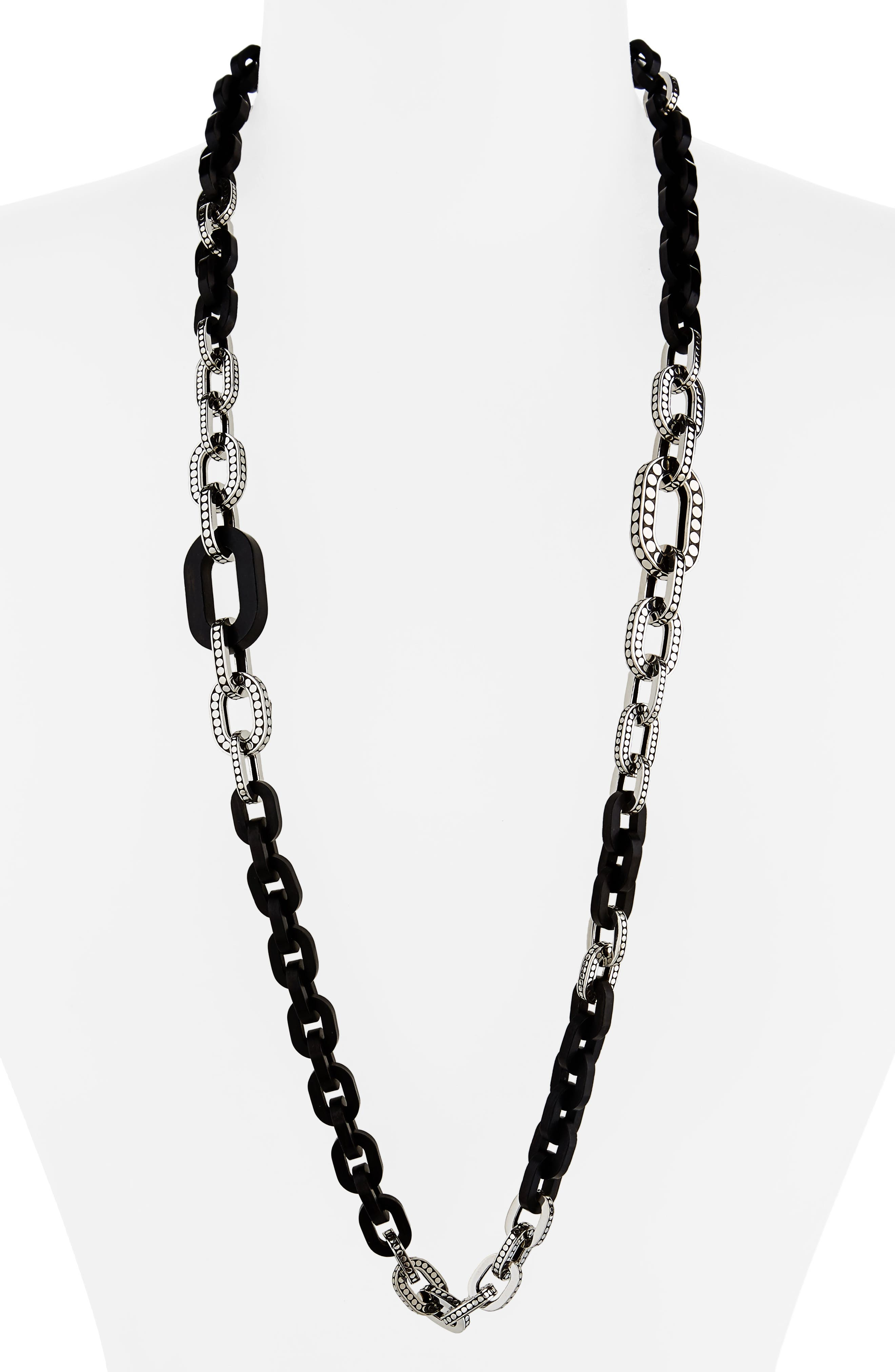 Dot Long Link Necklace,                             Main thumbnail 1, color,                             040