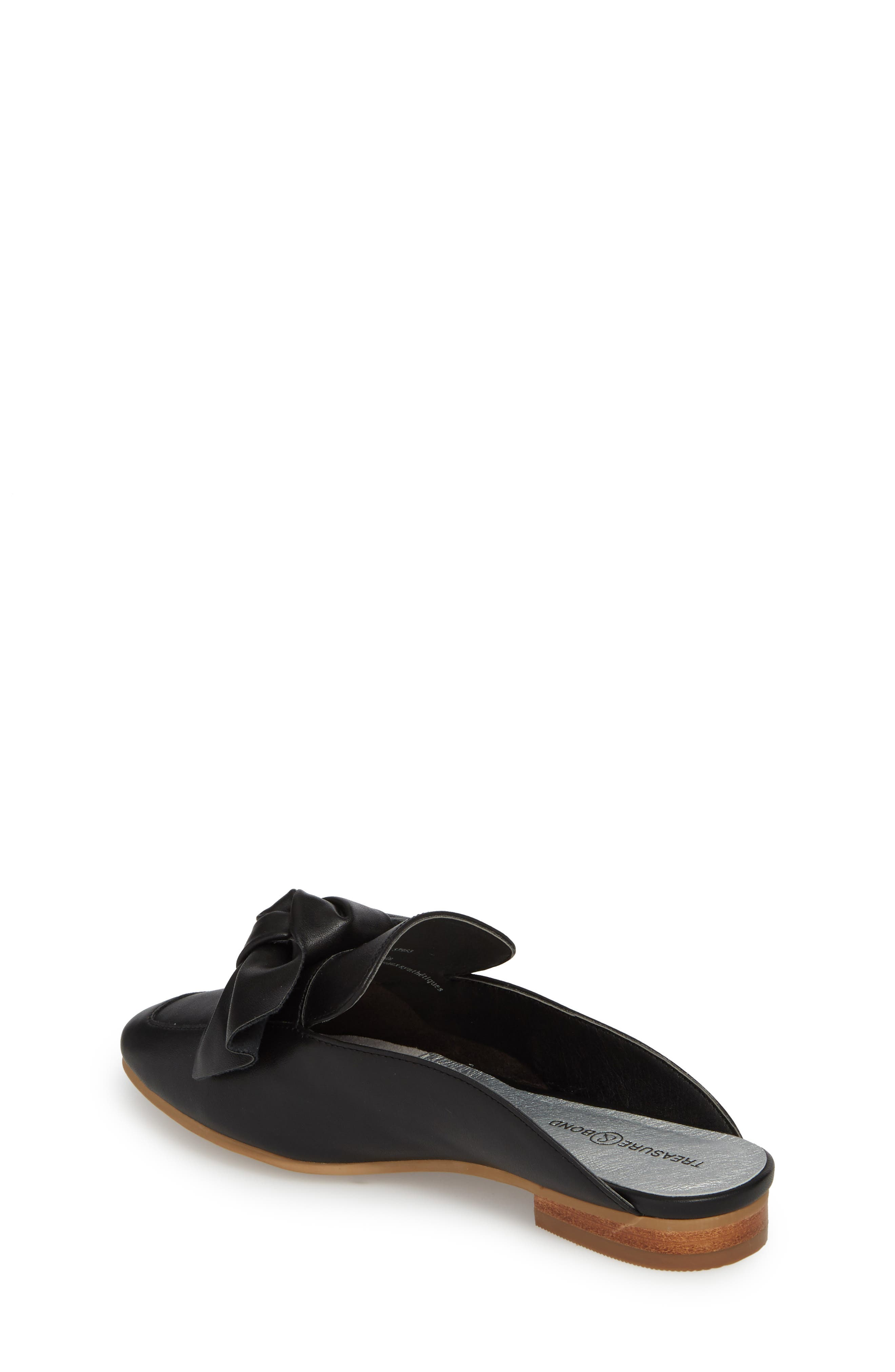 Gina Knotted Loafer Mule,                             Alternate thumbnail 2, color,                             001