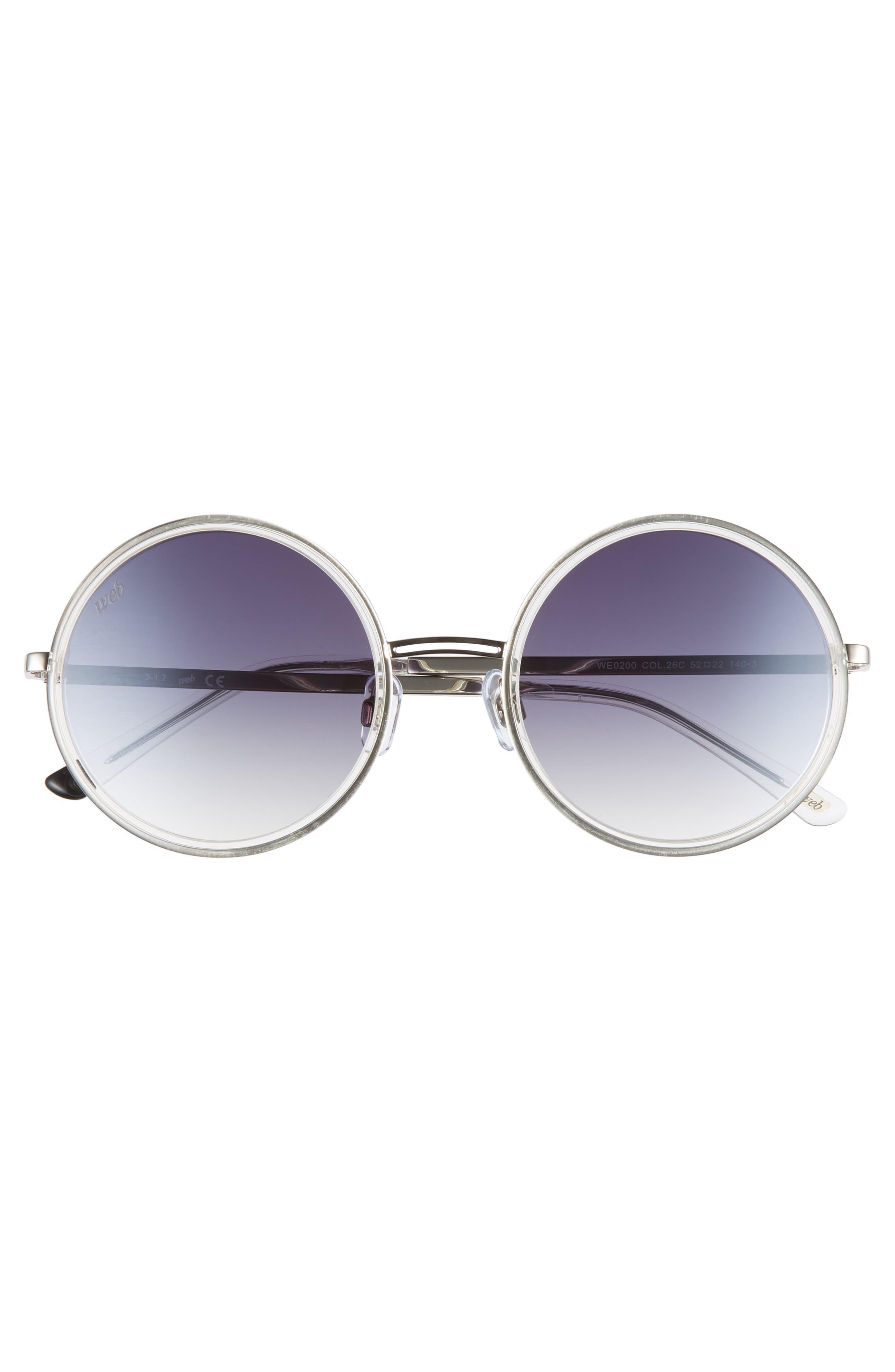 52mm Sunglasses,                             Alternate thumbnail 3, color,                             CRYSTAL/ SMOKE