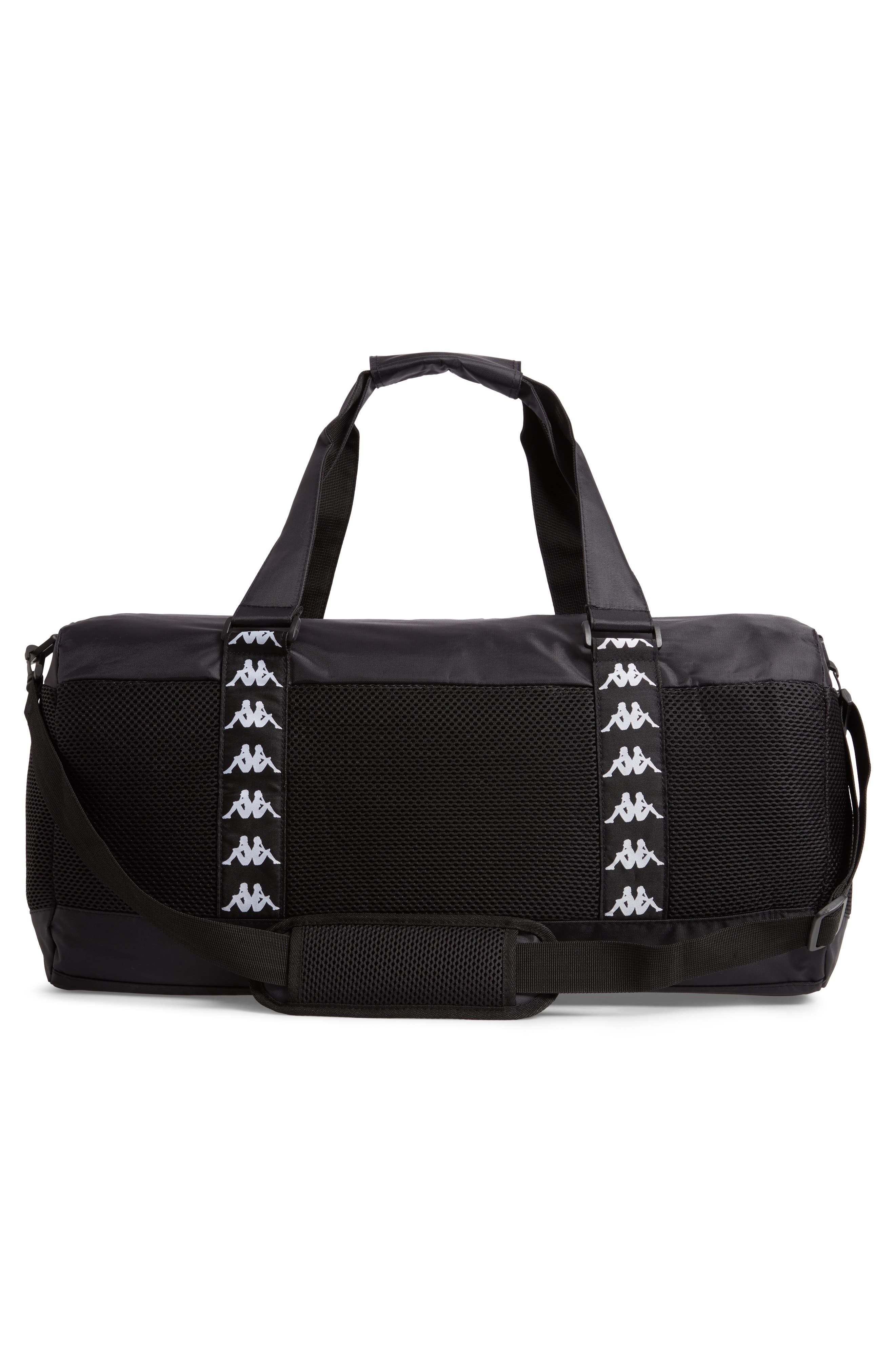 XL Athletic Duffel Bag,                             Alternate thumbnail 3, color,                             BLACK-WHITE