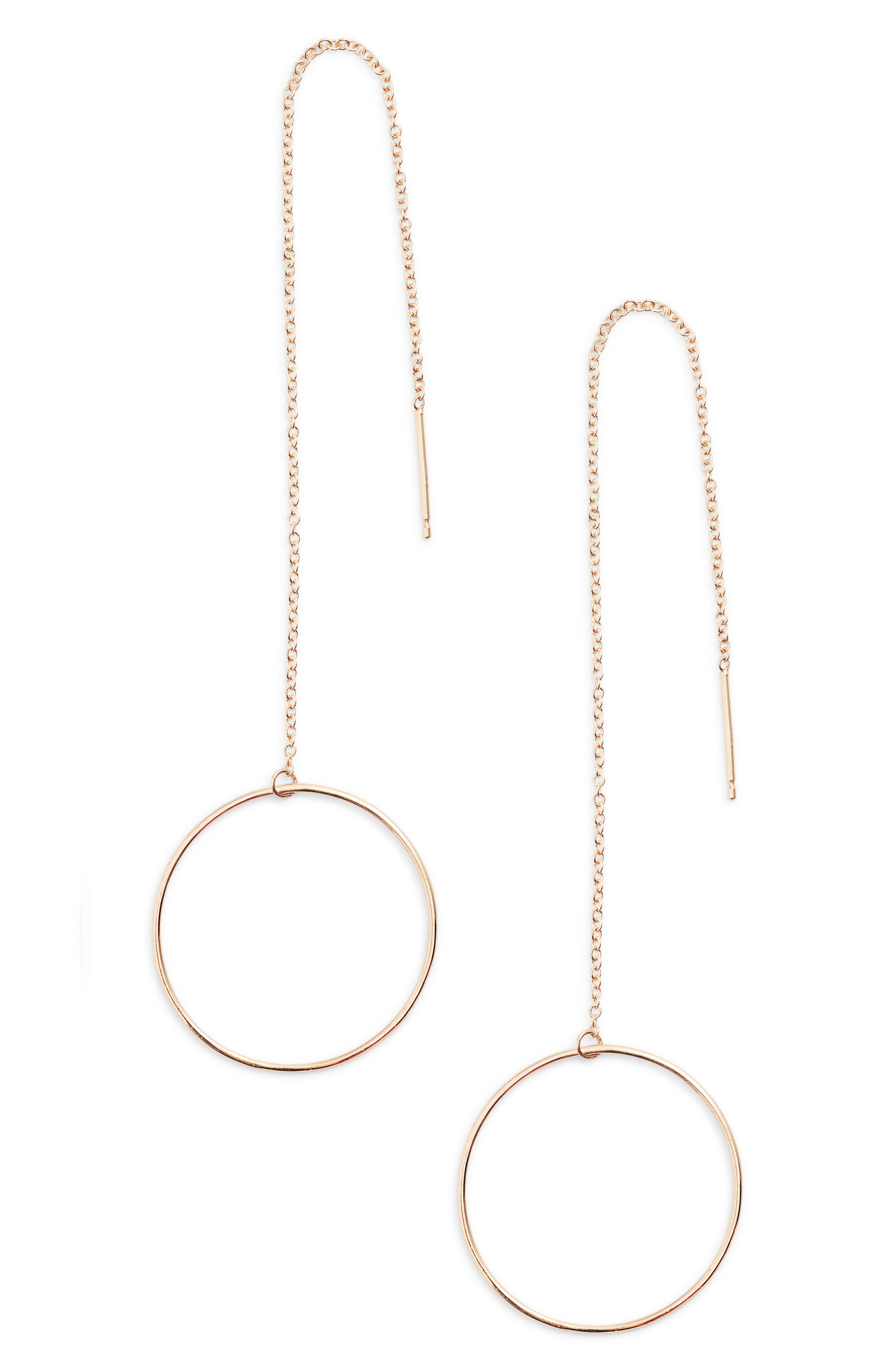 Zoe Chicco Open Circle Threader Earrings