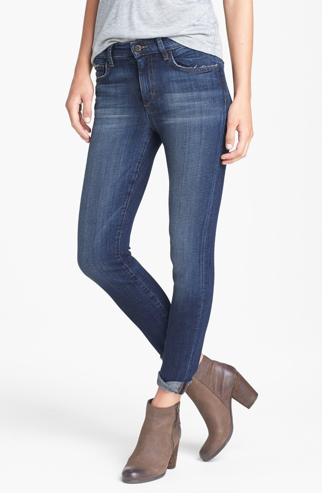 Straight Leg Ankle Jeans,                             Main thumbnail 1, color,                             400