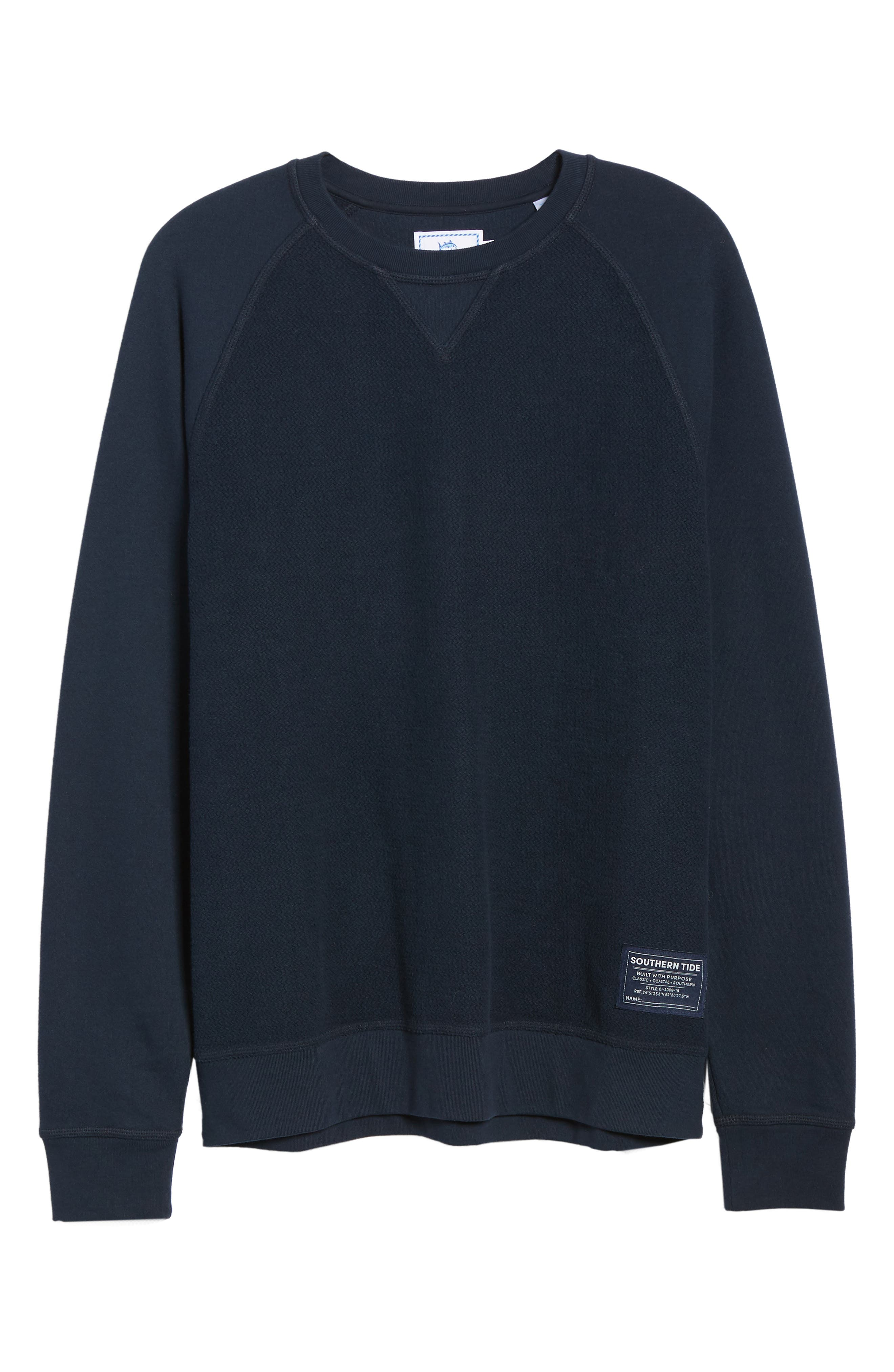 Cliff Cottage Fleece Pullover,                             Alternate thumbnail 6, color,                             TRUE NAVY