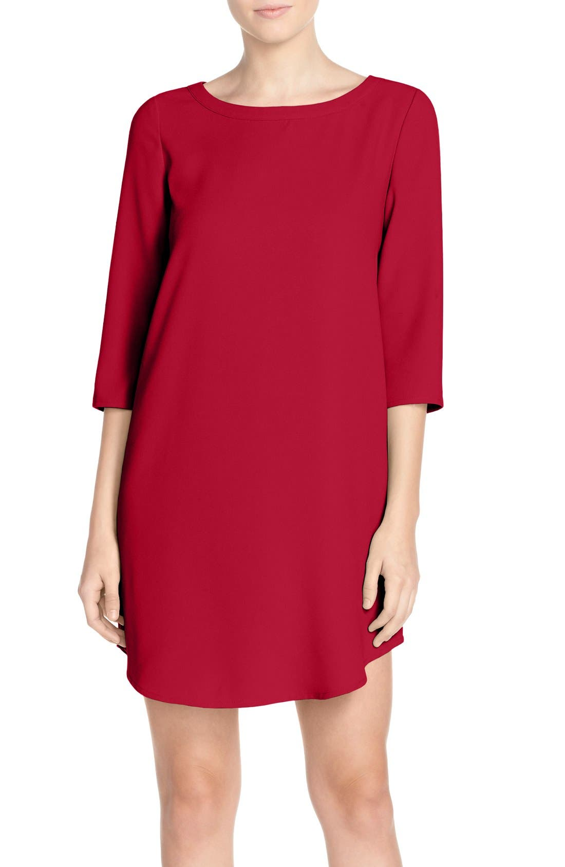 'Jazlyn' Crepe Shift Dress,                             Main thumbnail 7, color,