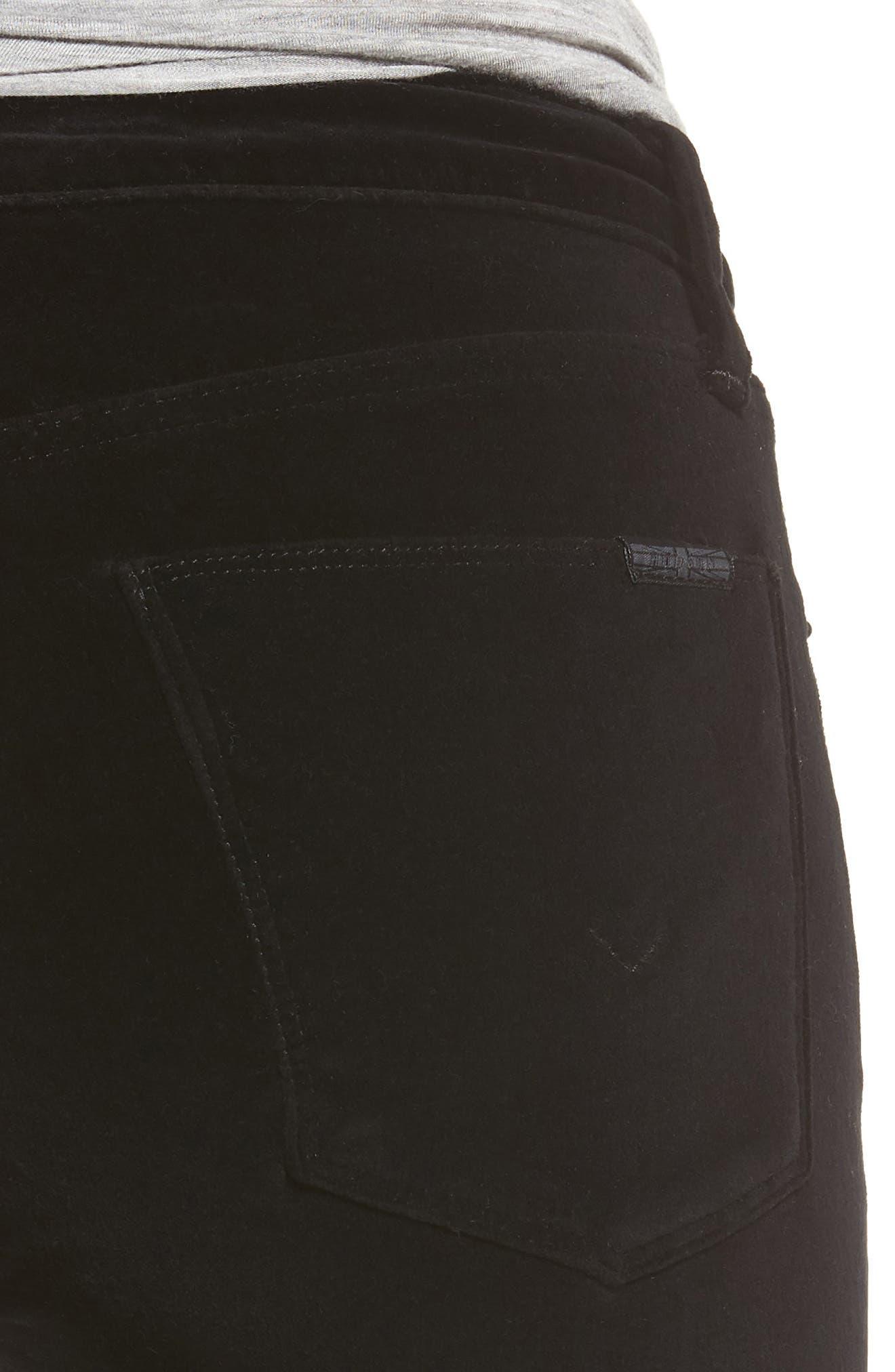 Drew Bootcut Velvet Jeans,                             Alternate thumbnail 4, color,                             001