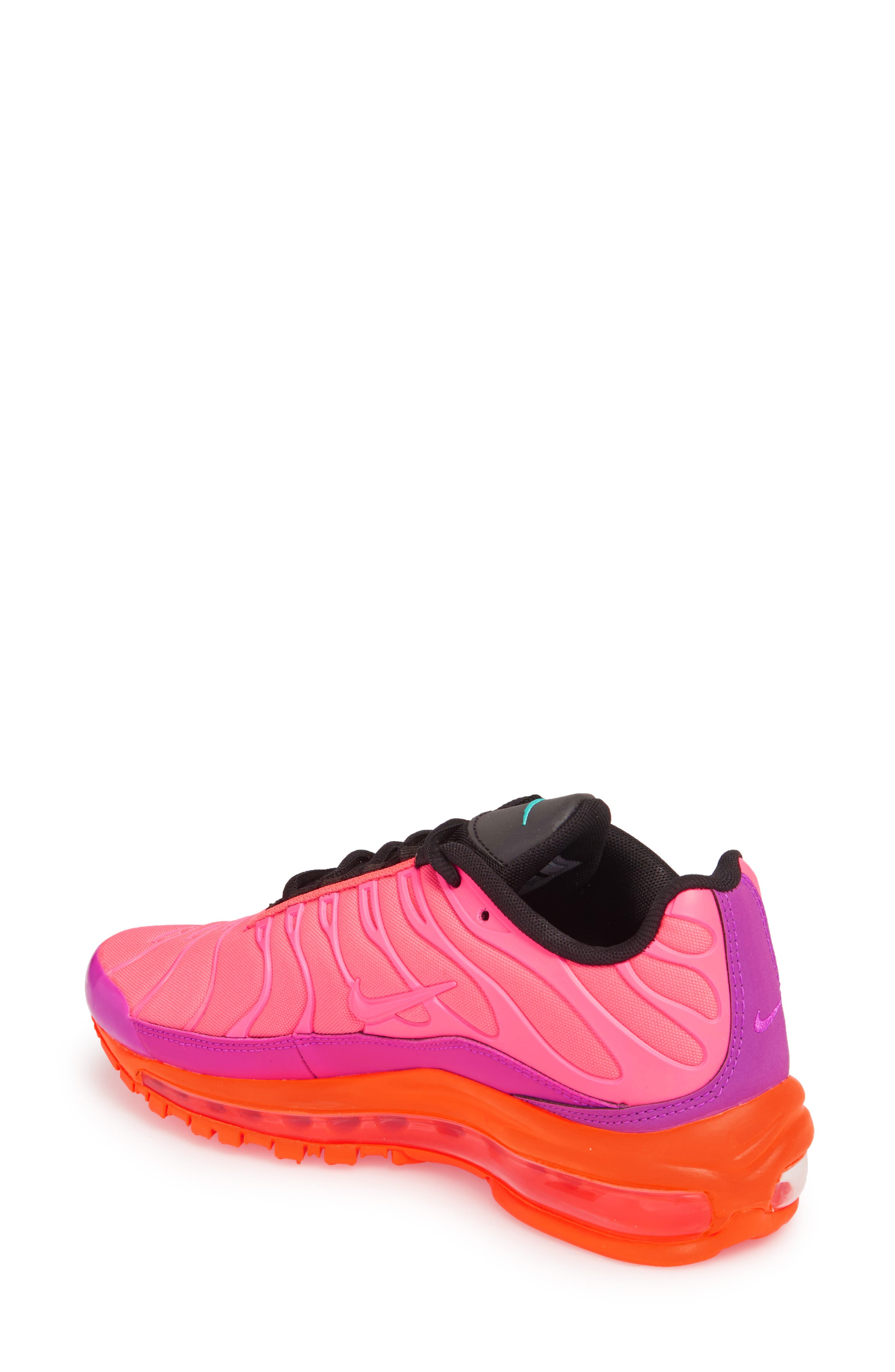 Air Max 97 Plus Sneaker,                             Alternate thumbnail 2, color,                             RACER PINK/ MAGENTA/ CRIMSON