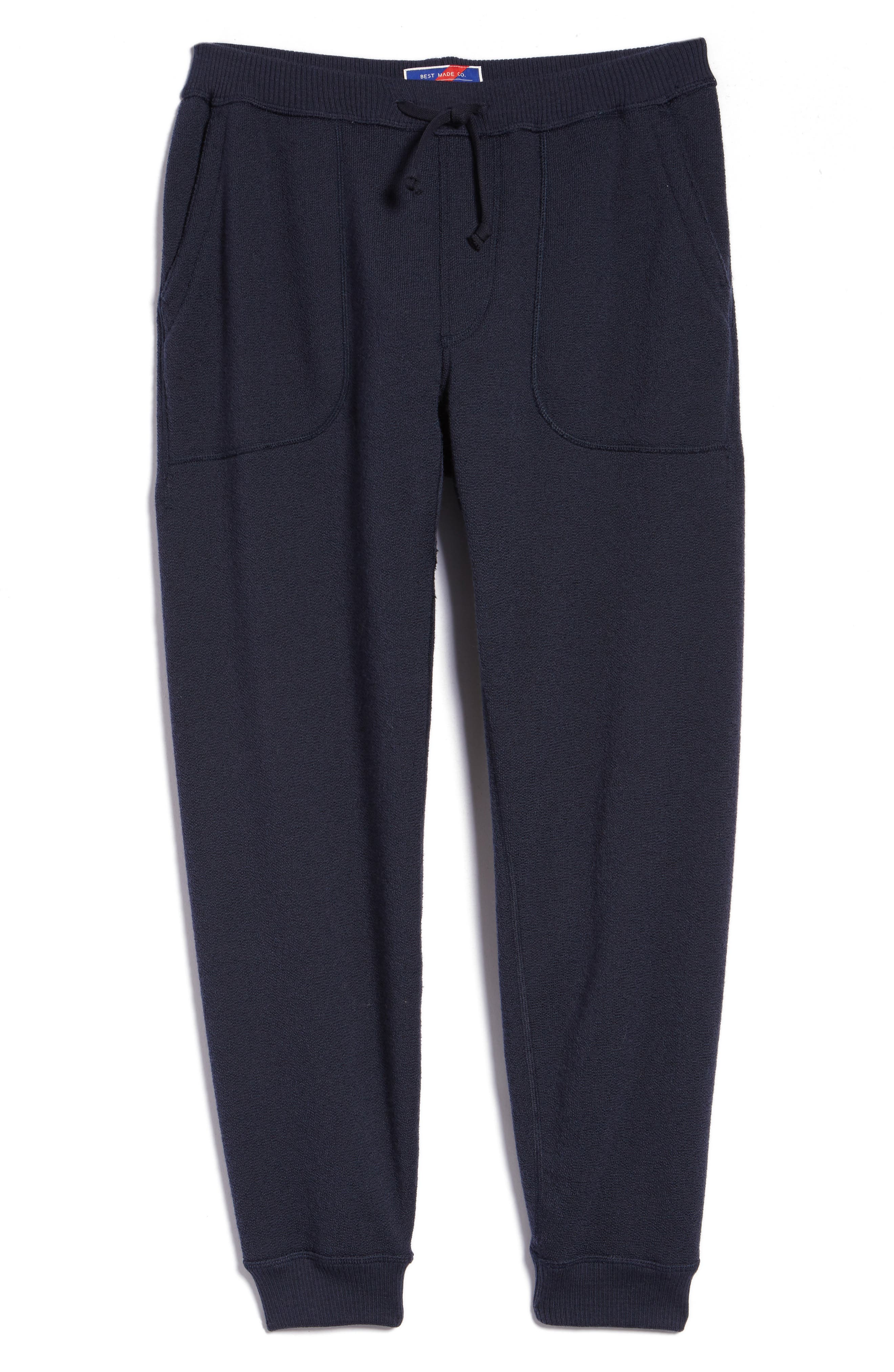 BEST MADE CO.,                             The Merino Wool Fleece Sweatpants,                             Main thumbnail 1, color,                             NAVY